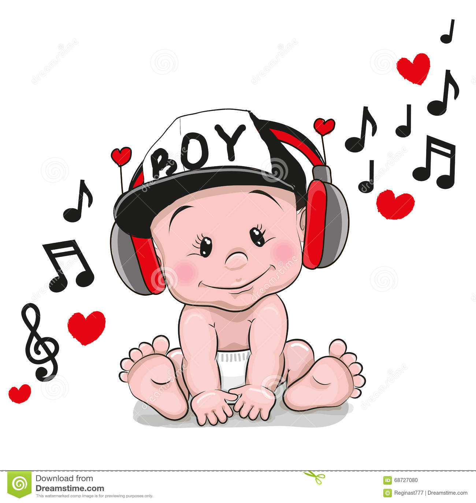 Cute Cartoon Baby Stock Vector - Image: 68727080