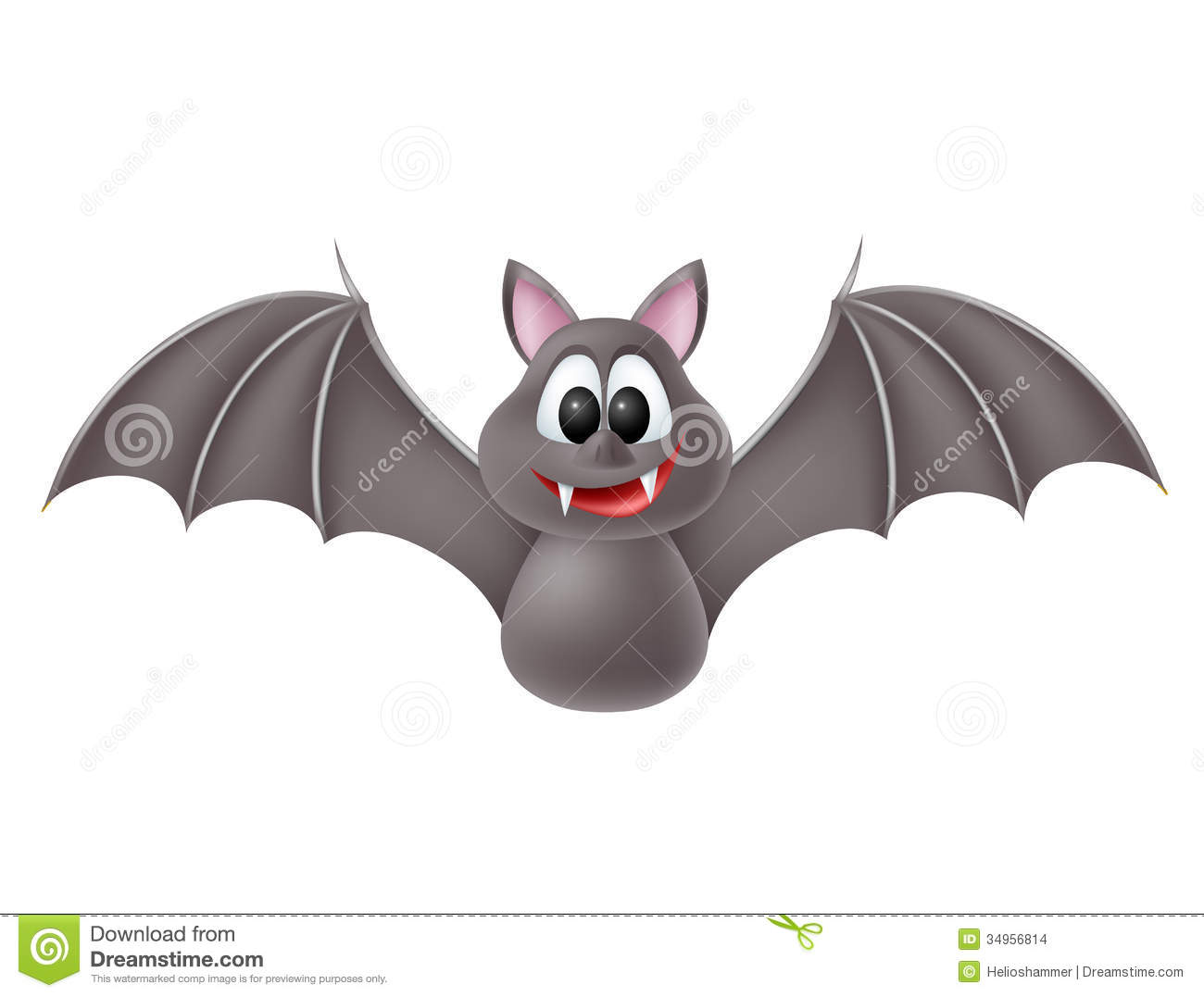 Cute Cartoon Bat Stock Images - Image: 34956814