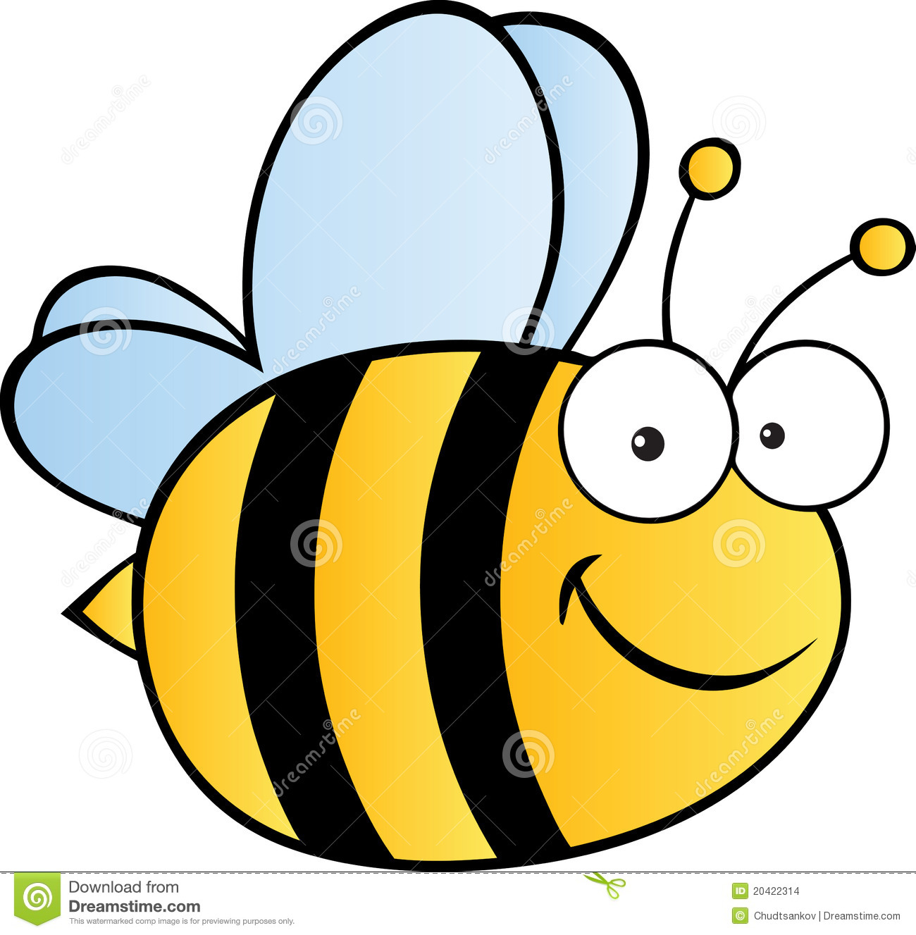 smiling bee in yellow and black flies happily mr no pr no 4 5843 12