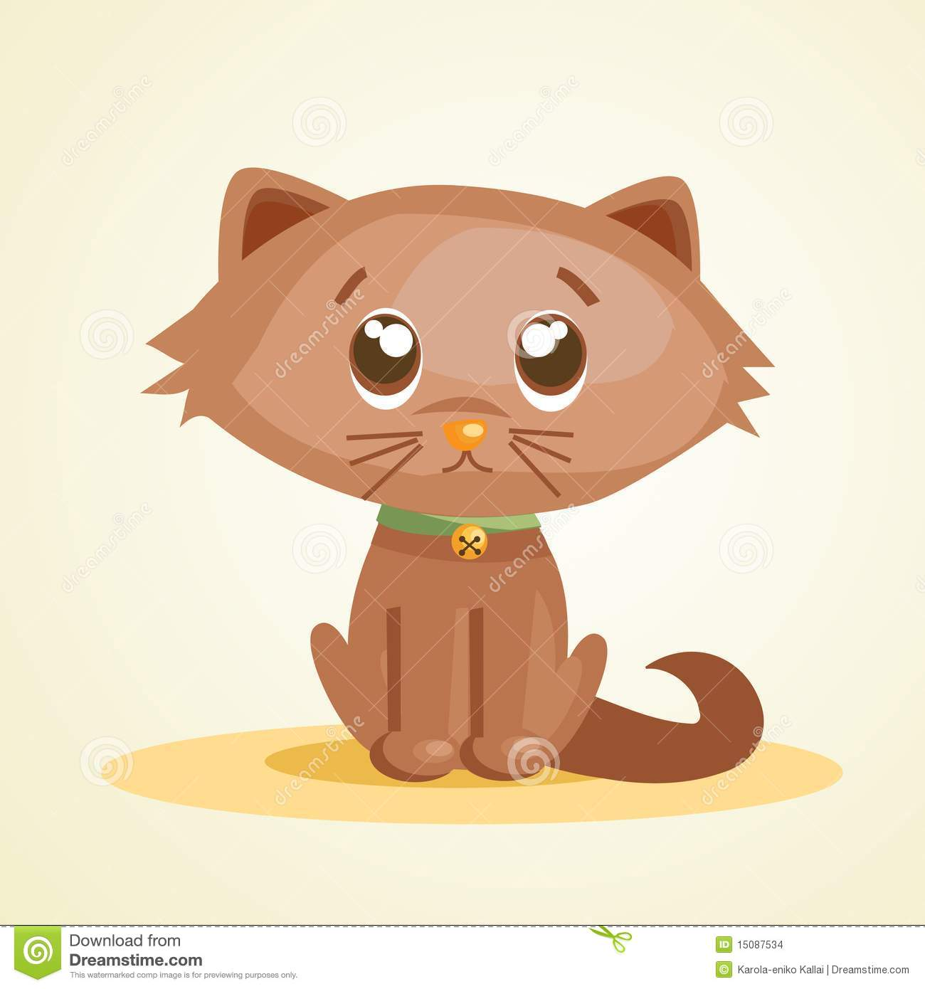 Cute Cartoon Cat Stock Images - Image: 15087534