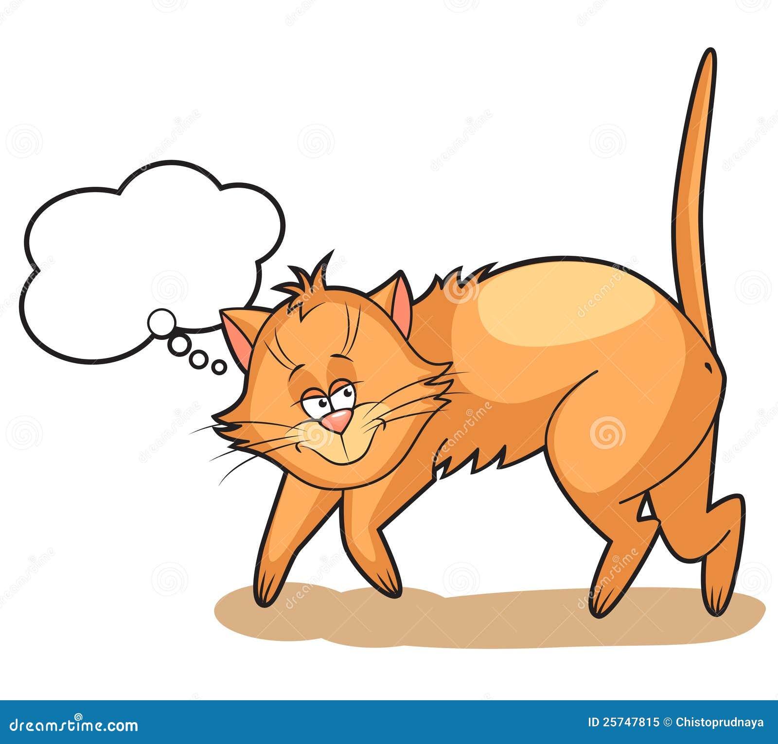 Cute cartoon Cat dreams
