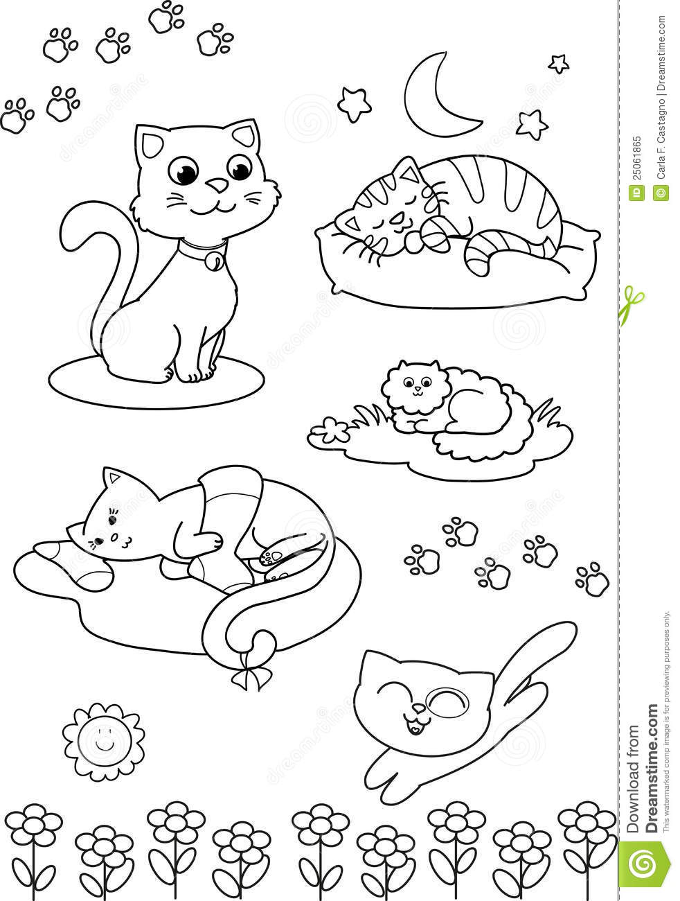 cartoon cat coloring pages cute cartoon cat coloring pages photo