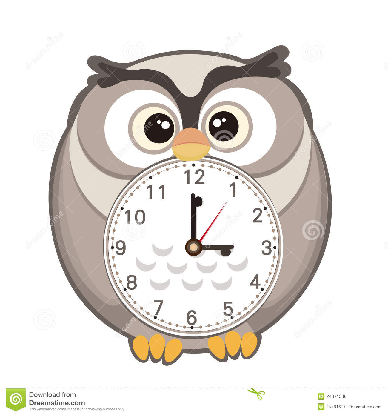 Cute Cartoon Clock Stock Photo - Image: 24471540