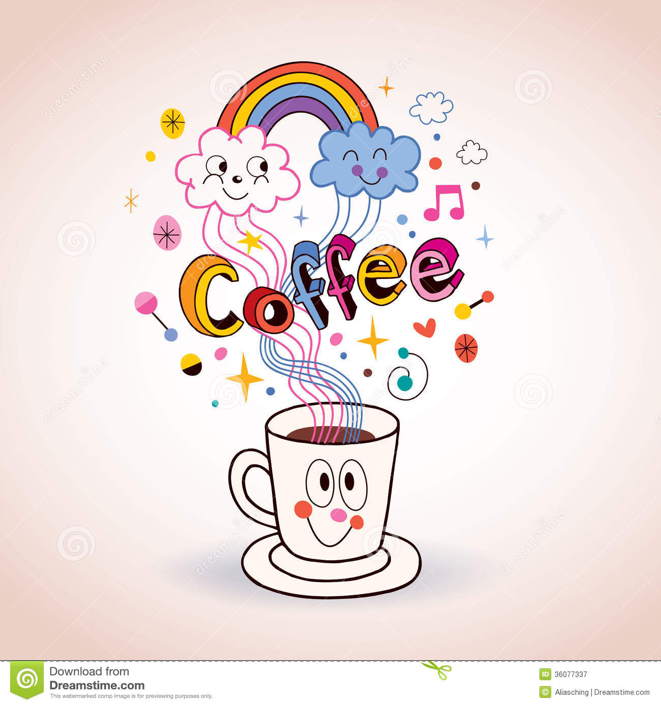 Happy Coffee Clip Art