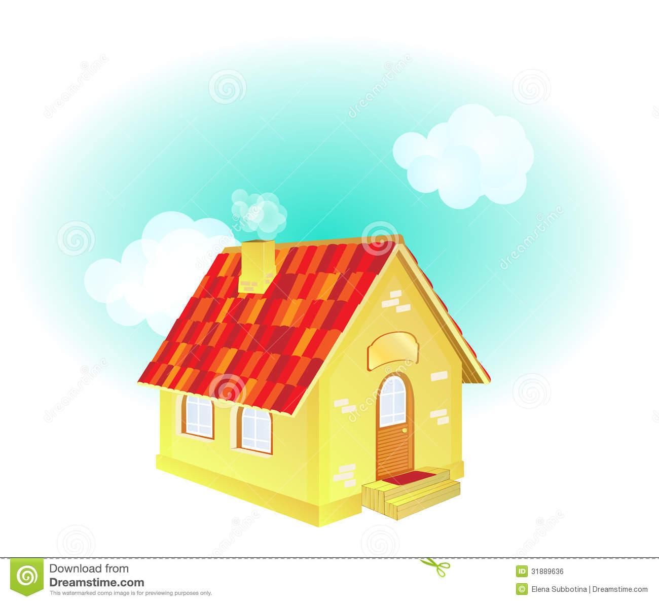 A cute cartoon country house stock vector illustration for Cute house images