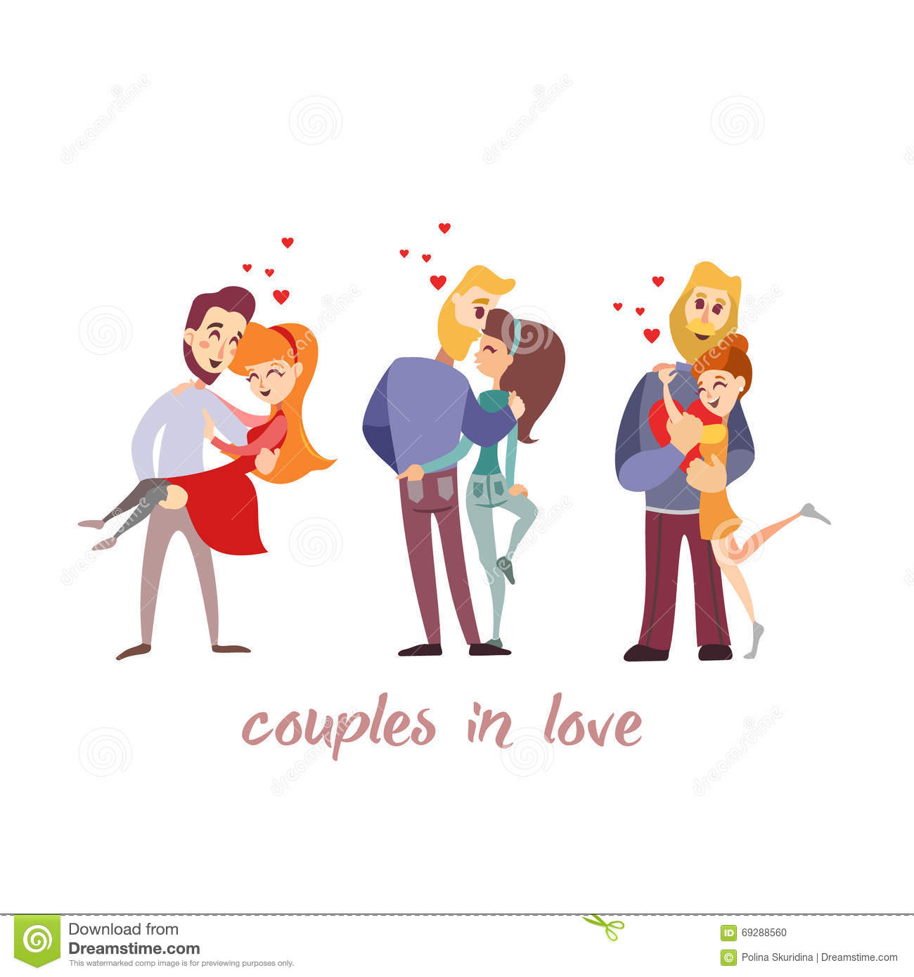 Cute cartoon pics of couples in love