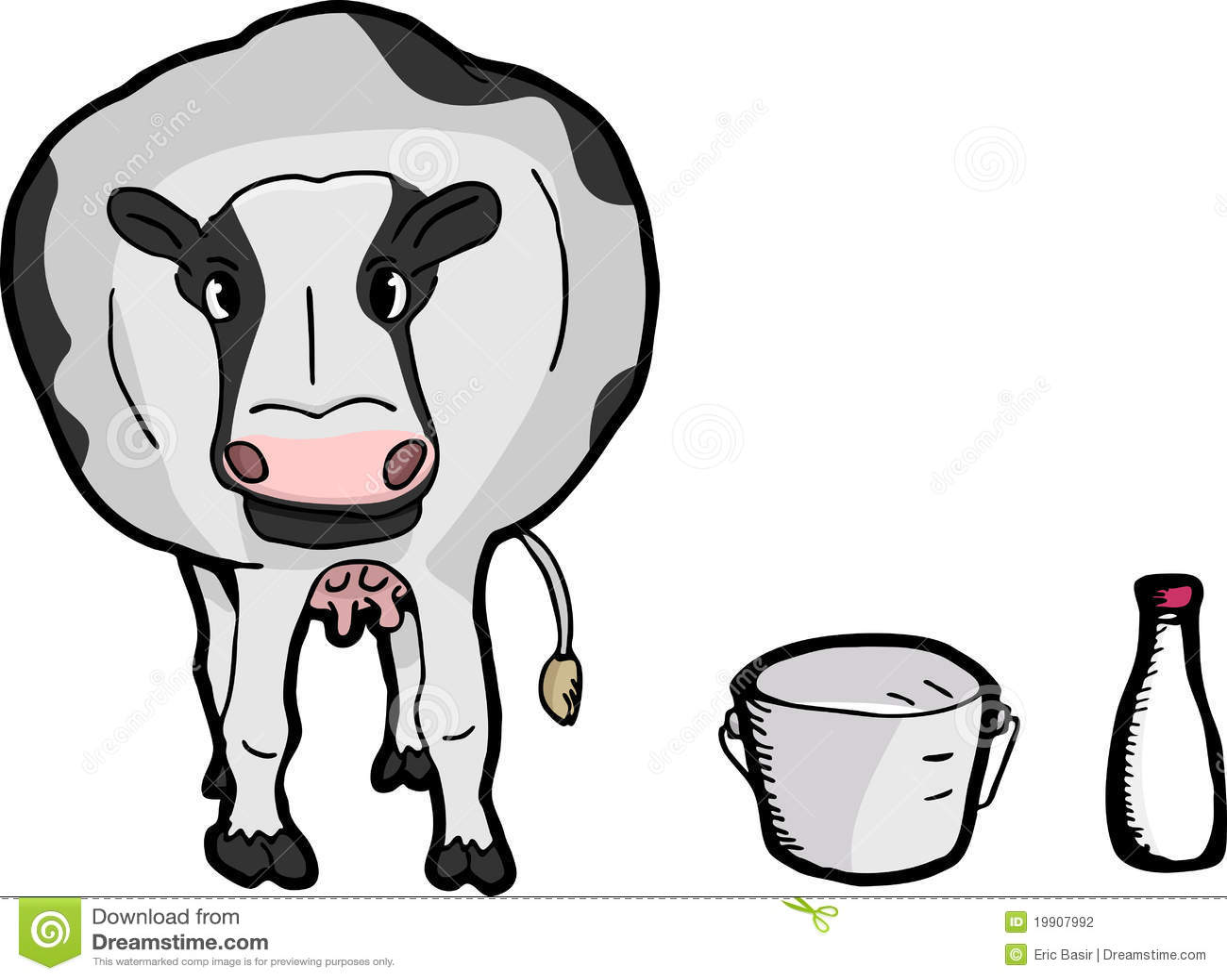 cute cartoon cow stock vector image of spot dairy animal 19907992
