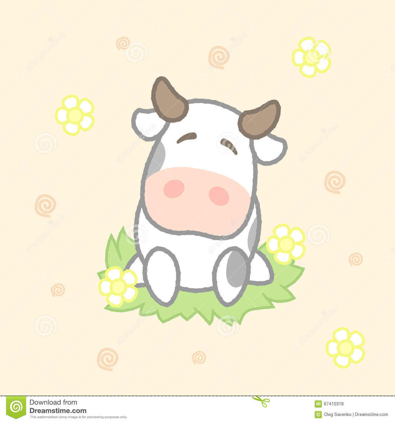 Cartoon Cow Drawing Images