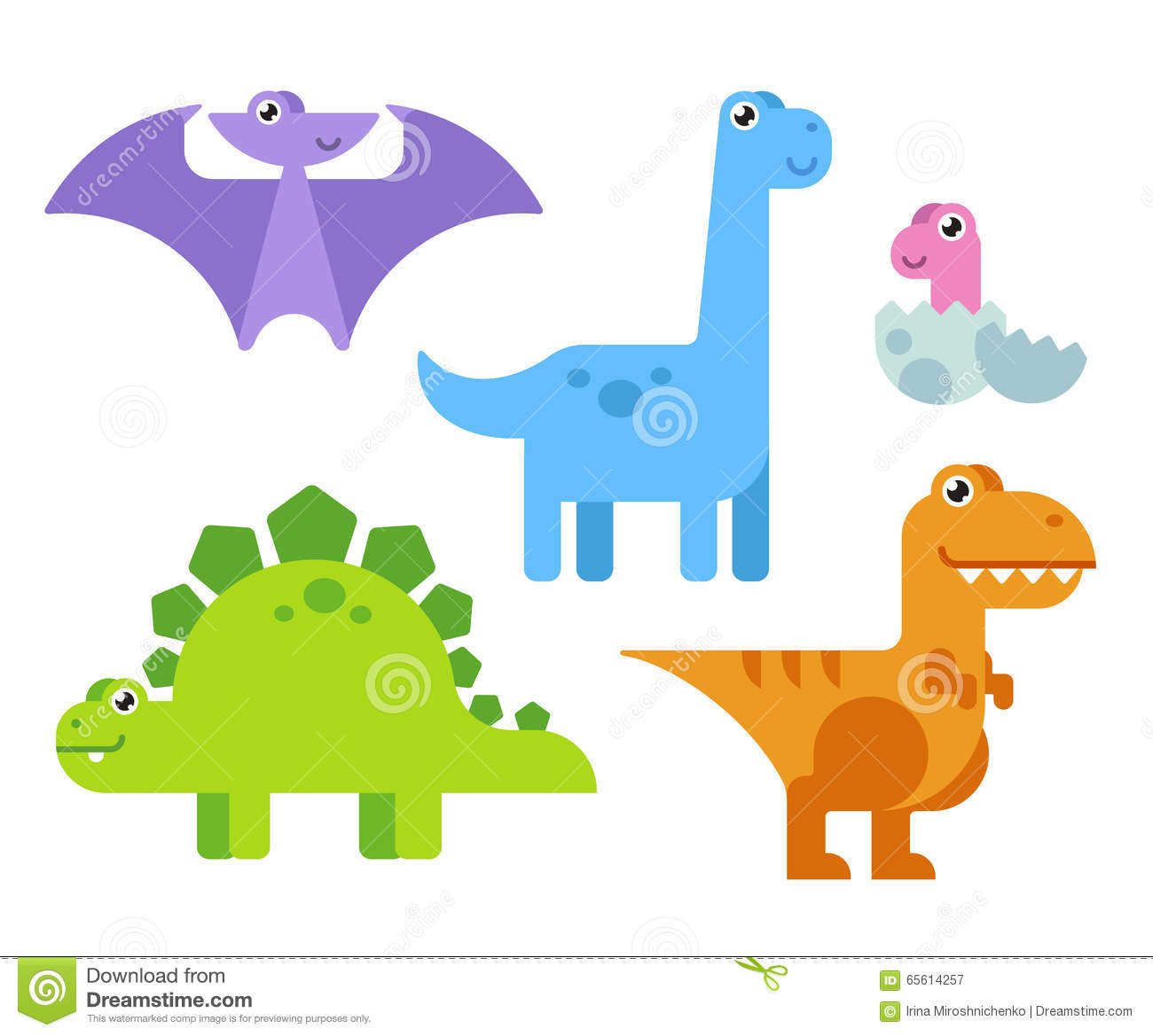 Image of: Images Cute Cartoon Dinosaurs Dreamstimecom Cute Cartoon Dinosaurs Stock Vector Illustration Of Dino 65614257