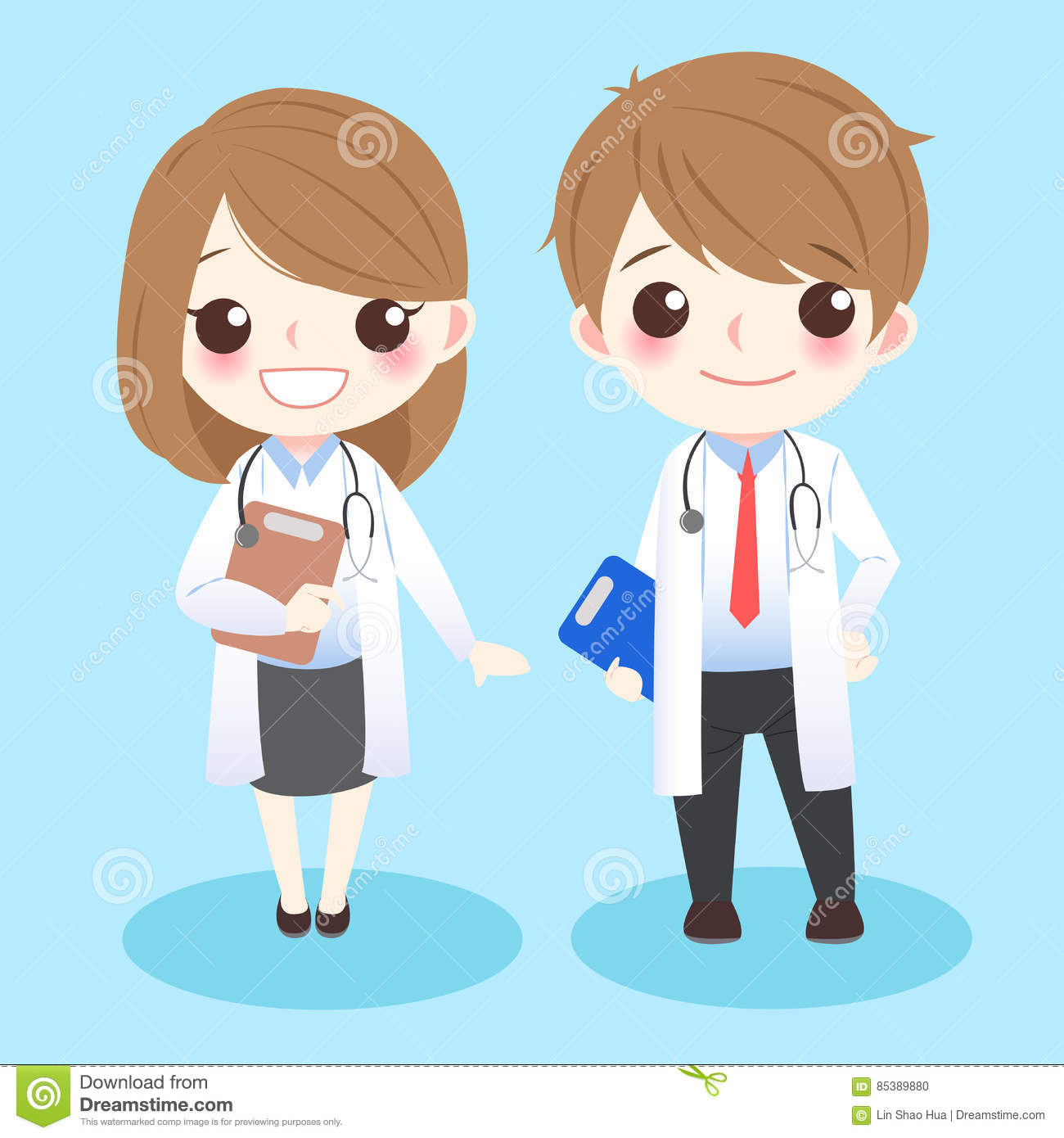 Cartoon doctors with organ royalty free stock photography