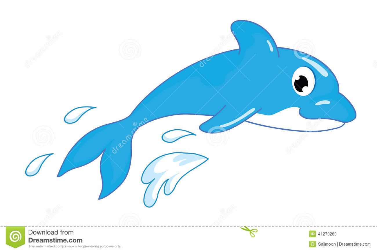 Cartoon fish jumping out of water clipart - photo#24