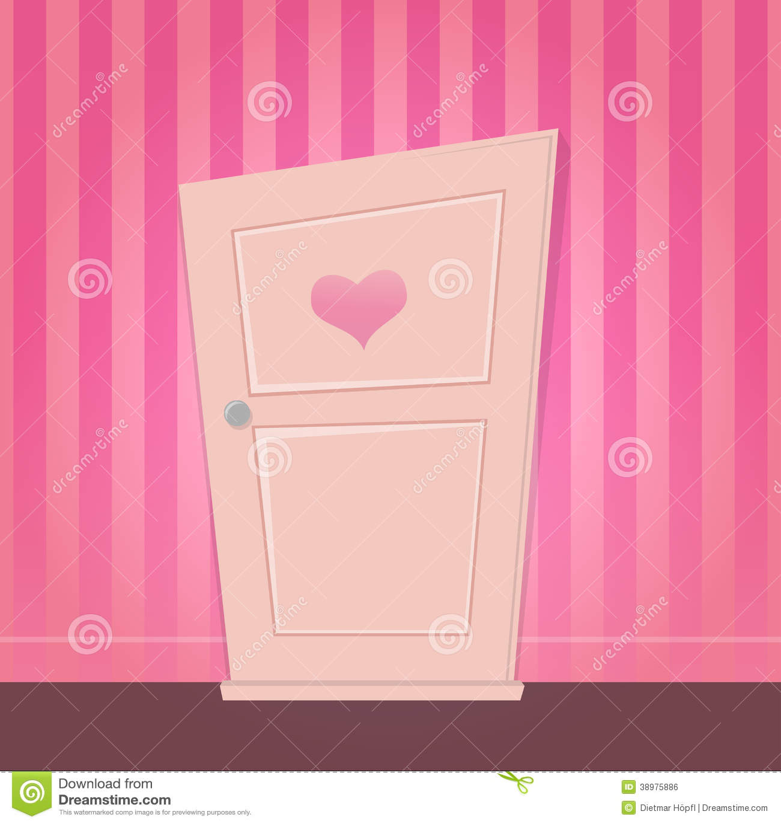 Cute Cartoon Door Stock Vector Image 38975886