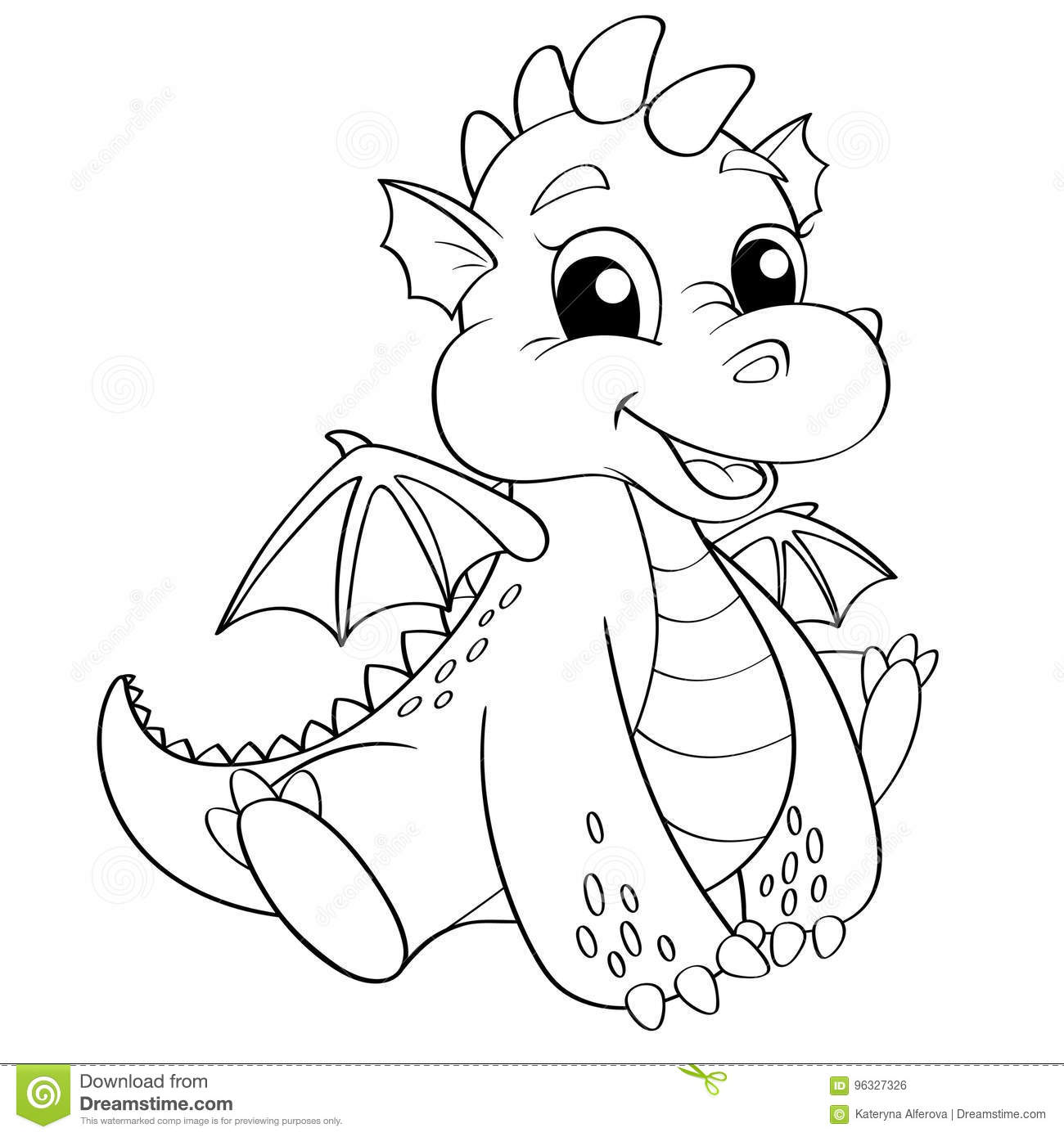 cartoon dragon coloring pages - photo#31