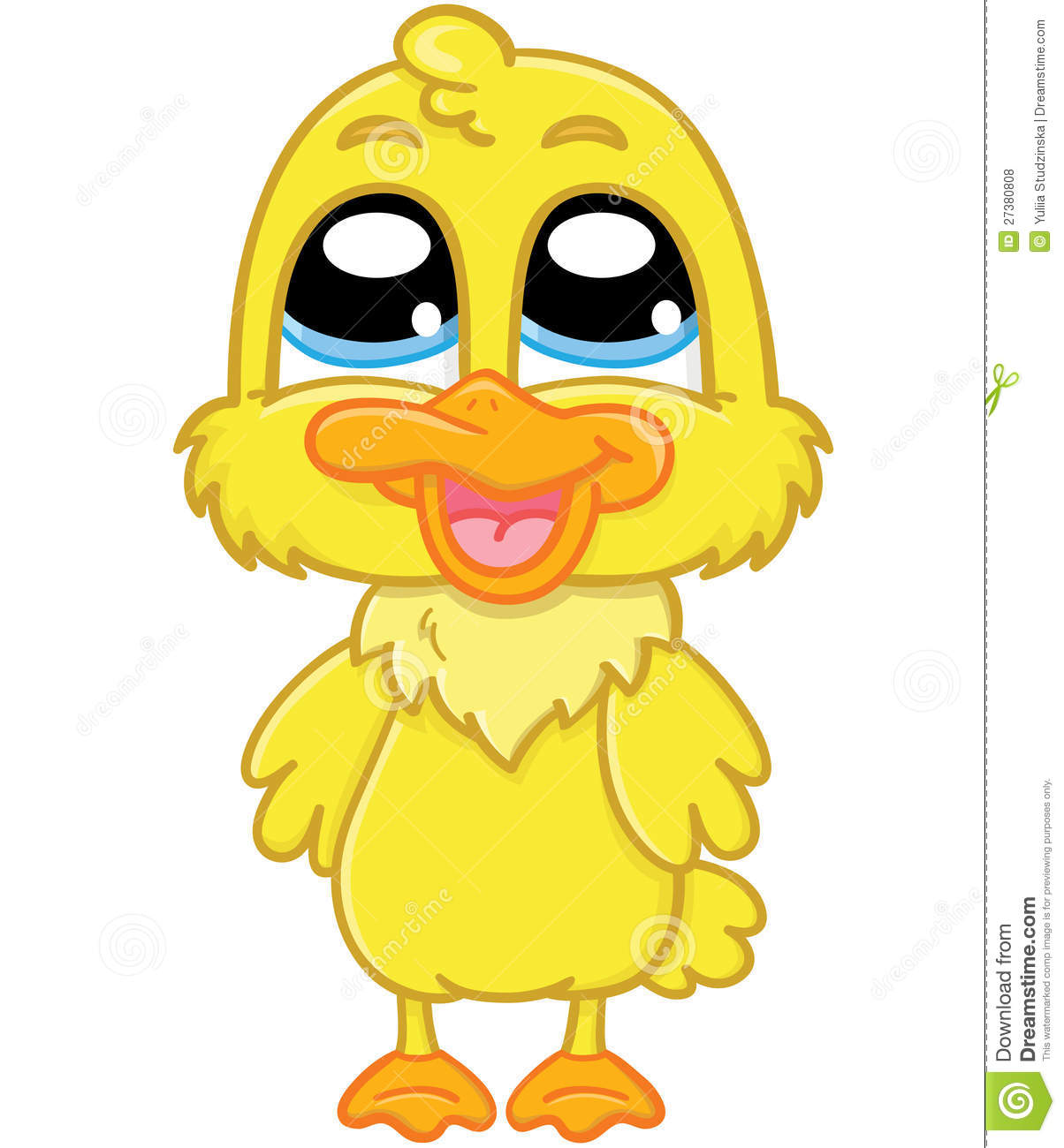 Cute cartoon duckling stock vector. Image of vector, duck ...
