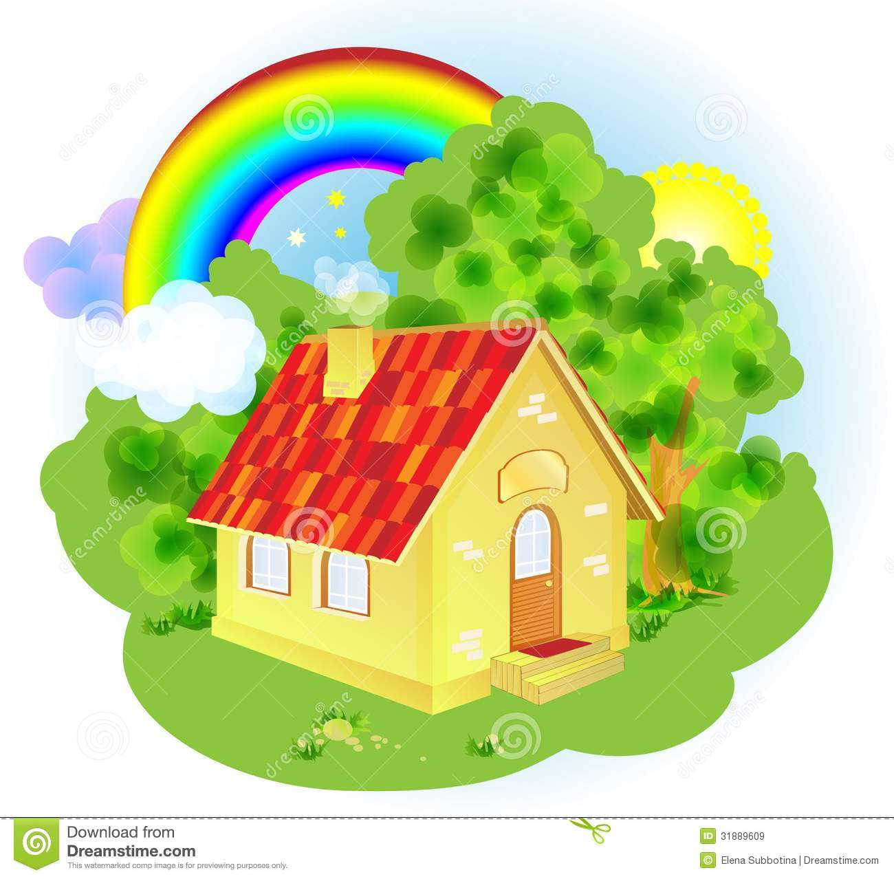 A cute cartoon fairytale house royalty free stock images for Cute house pictures