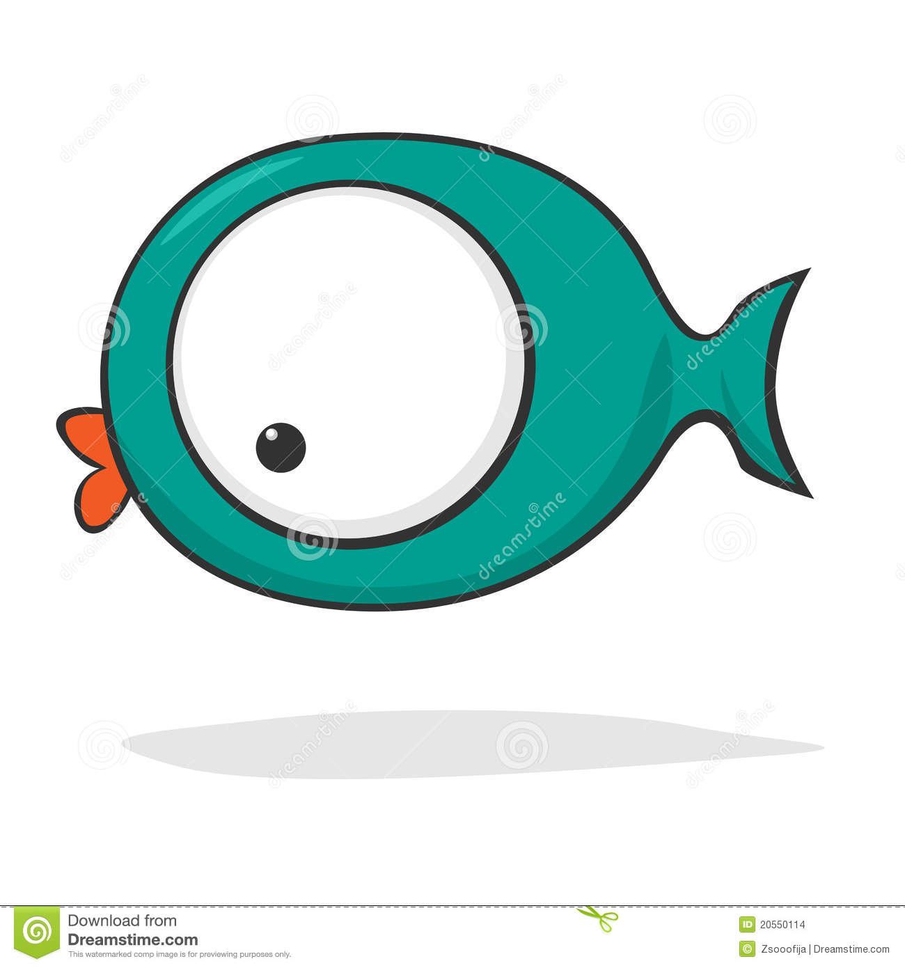 Cute fish jumping off the water stock illustration for Cute freshwater fish
