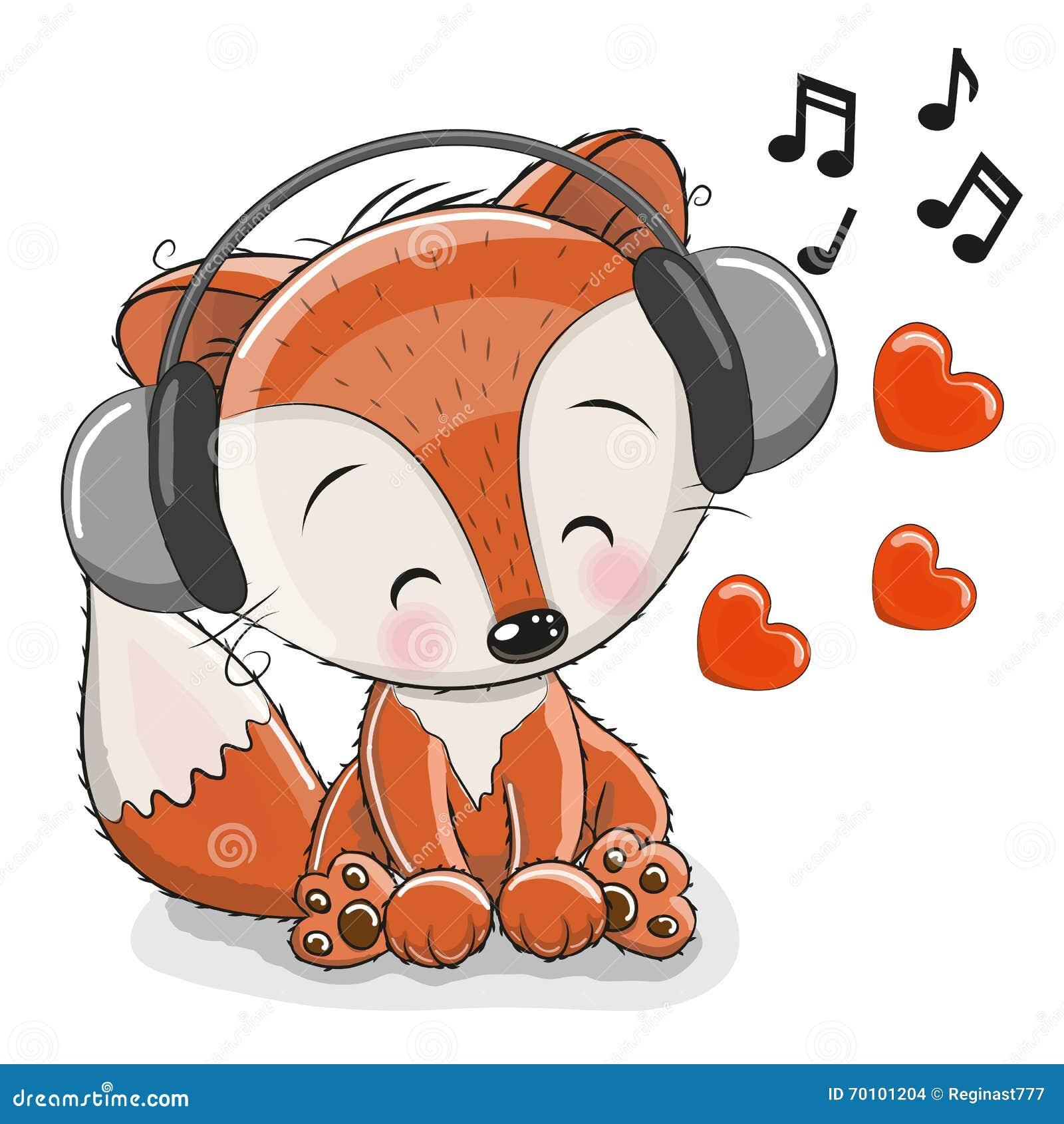 cute cartoon fox stock vector image 70101204 Red Fox Drawing red fox clip art trace