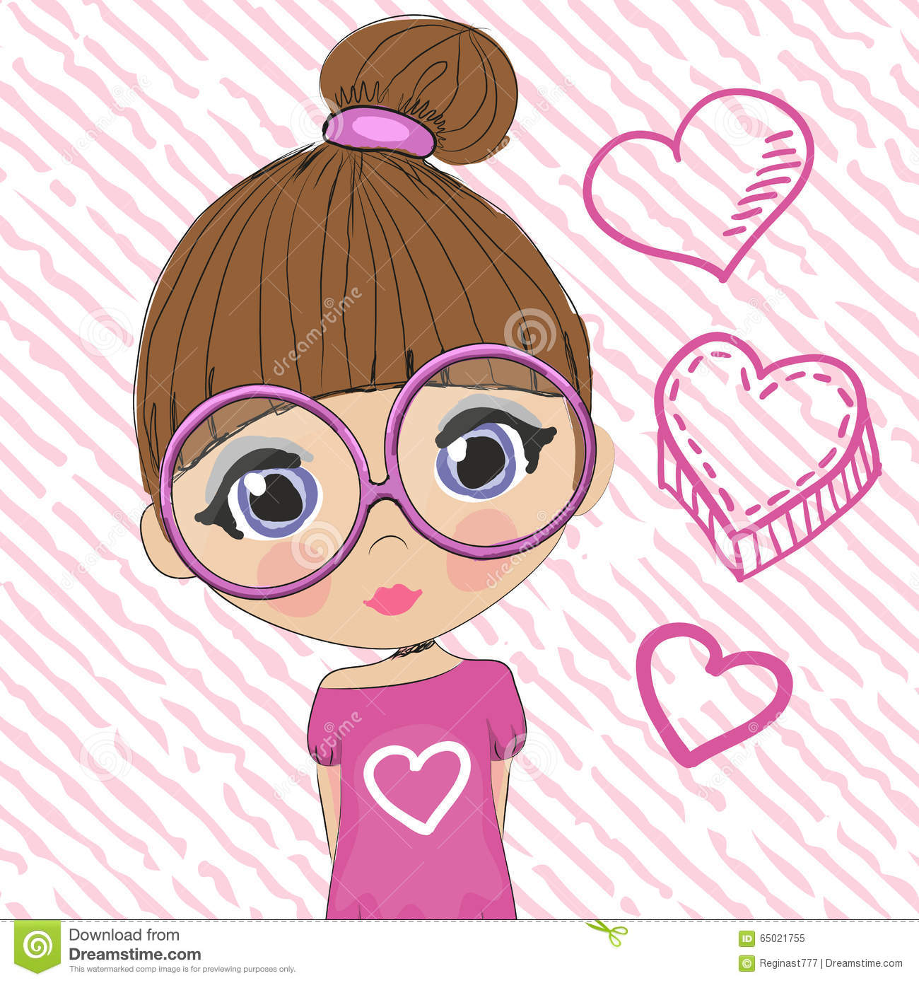 Clipart girl with brown hair and glasses photo 18