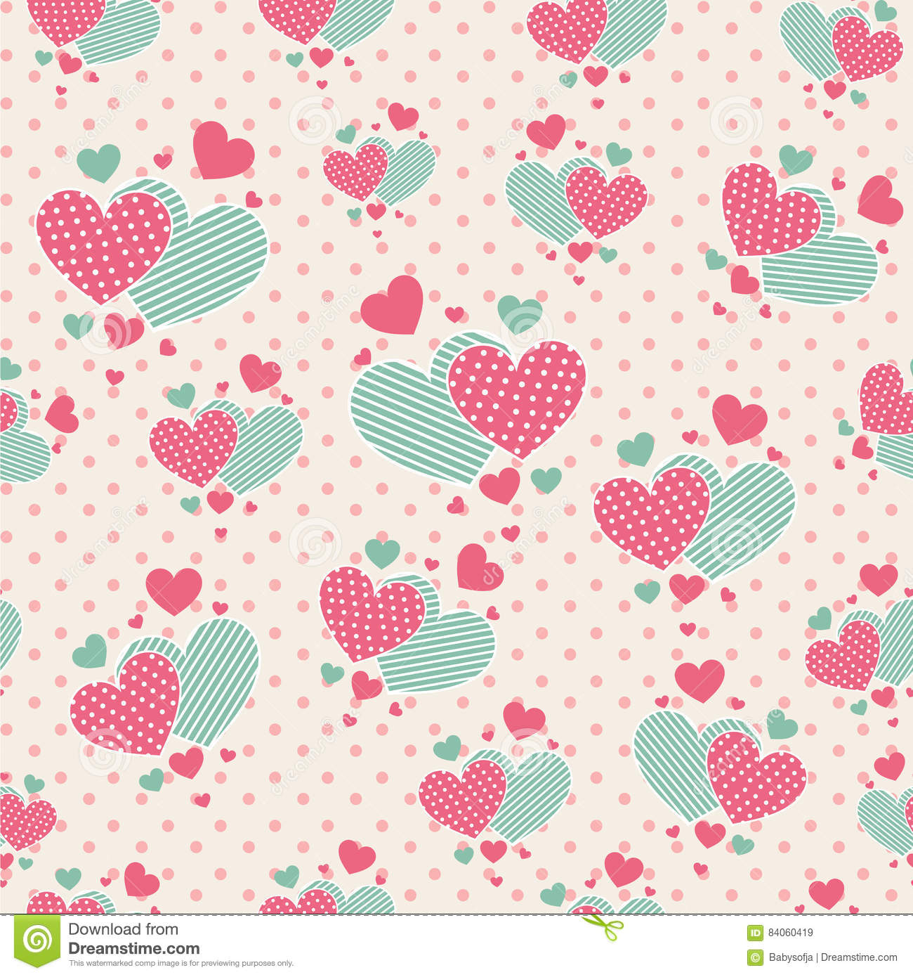 Cute cartoon hearts for scrapbook paper stock vector for Cute designs for paper