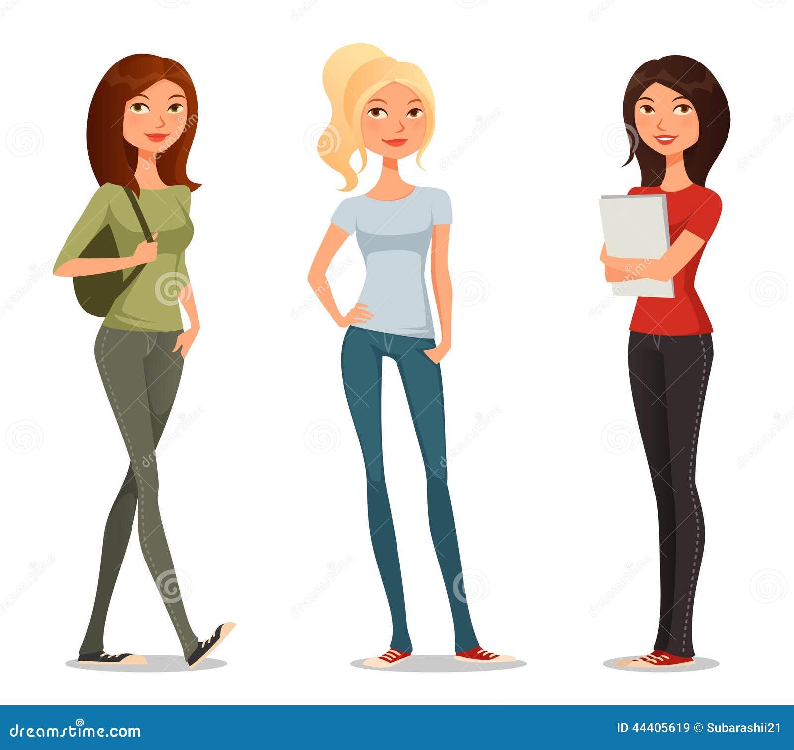 Personaje DE Dibujos Animados DE Chica Adolescente