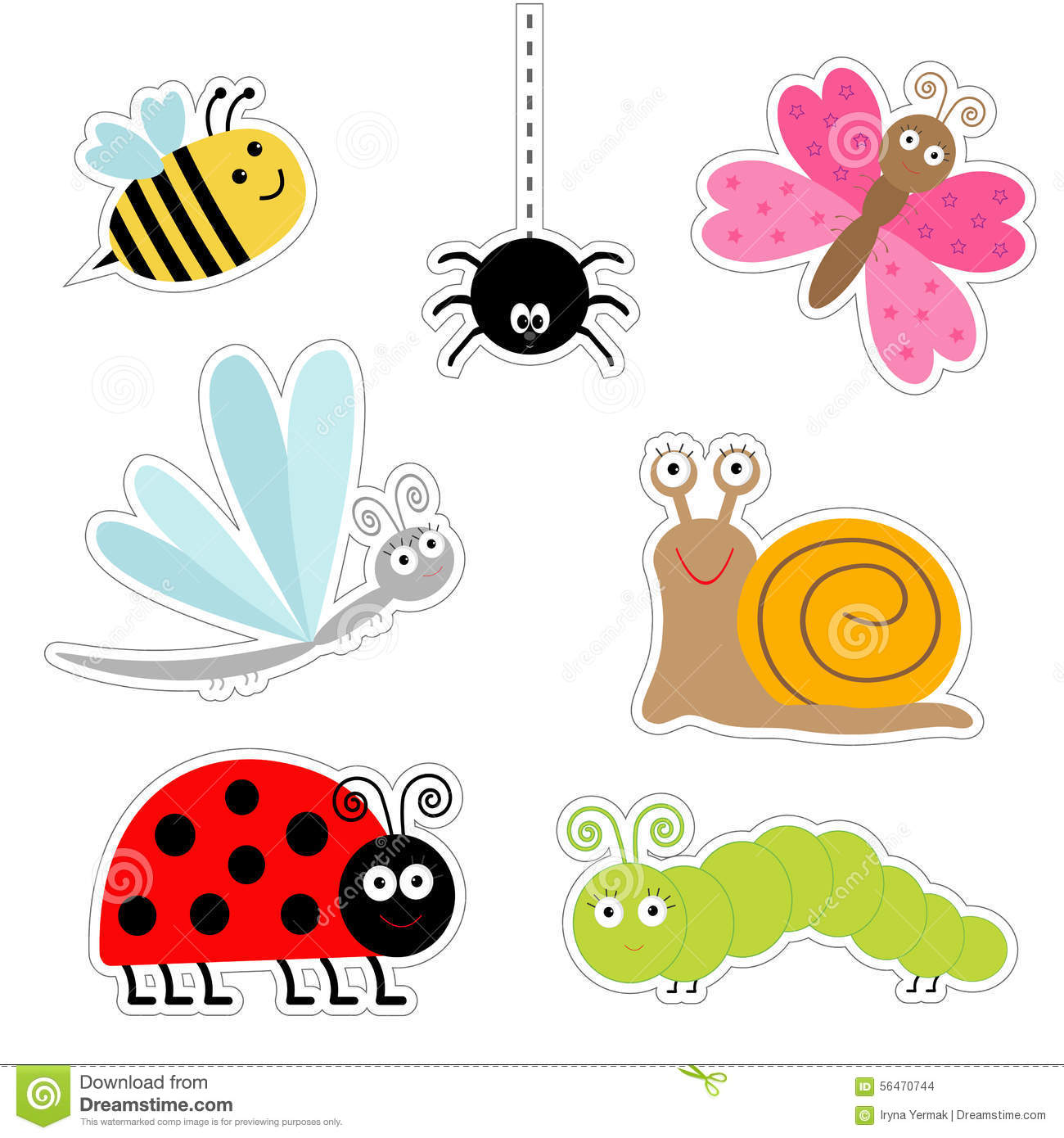 Cute insect drawing - photo#25