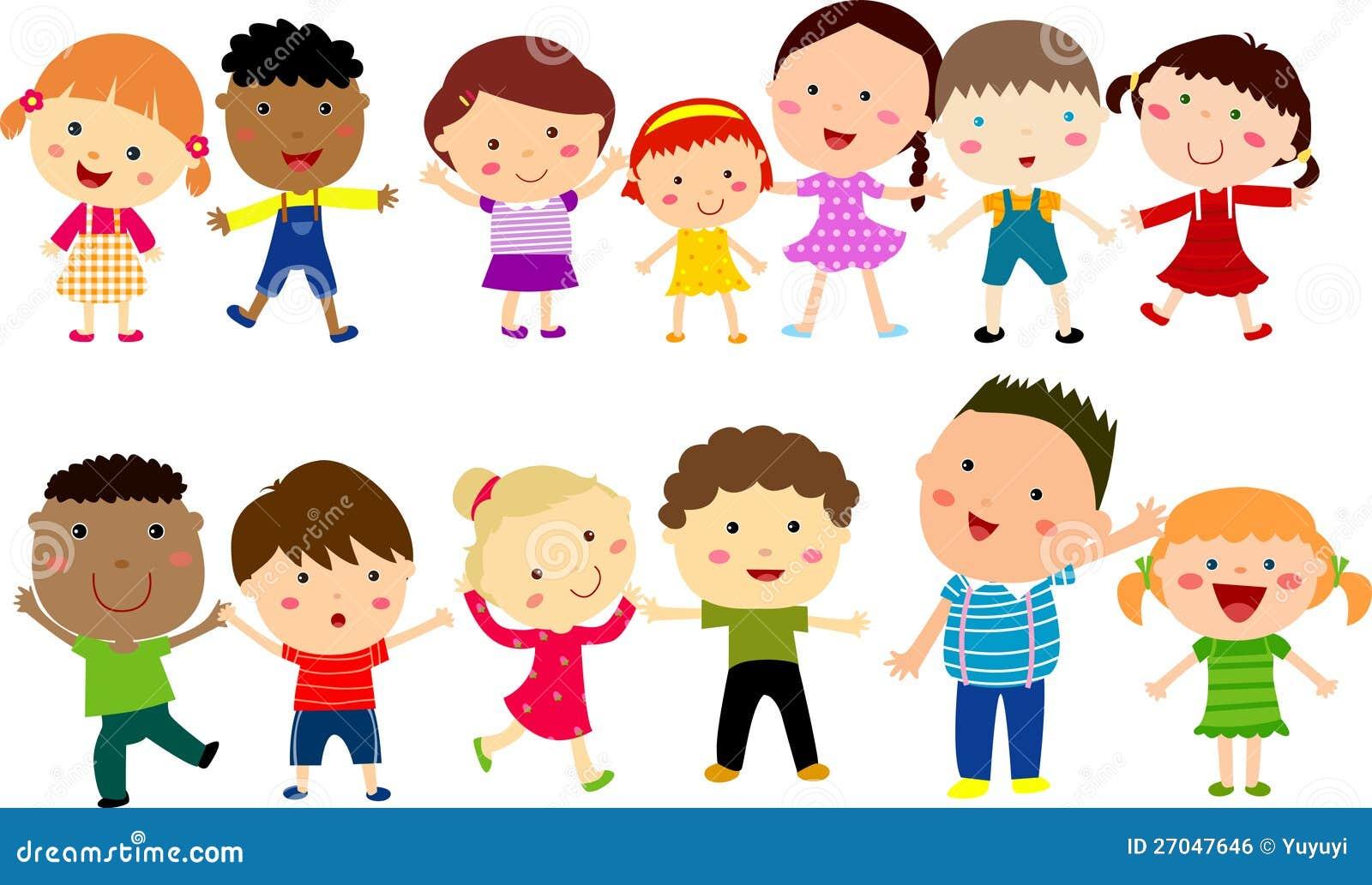 Royalty Free Stock Image: Cute cartoon kids. Image: 27047646