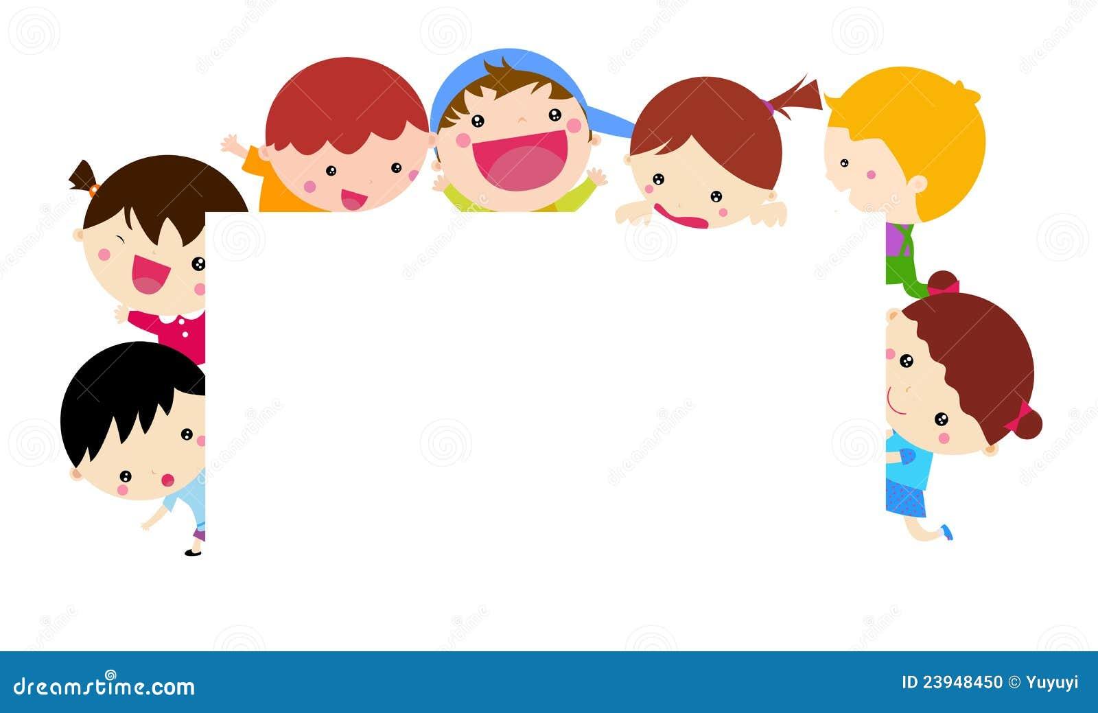 cute cartoon kids and banner stock vector illustration Birthday Wishes Clip Art Funny Maxine Birthday Clip Art