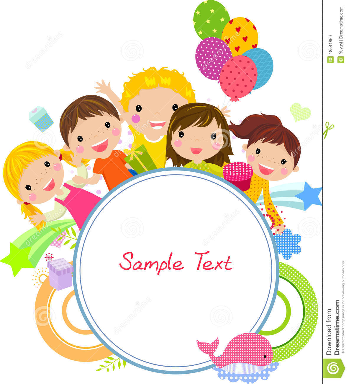 cute cartoon kids frame - Cartoon For Kids Download
