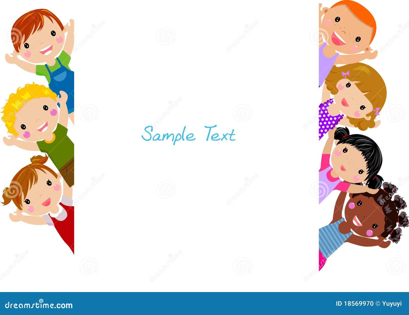 cute cartoon kids frame stock photo image 18569970 amusement park rides clipart amusement park clipart black and white