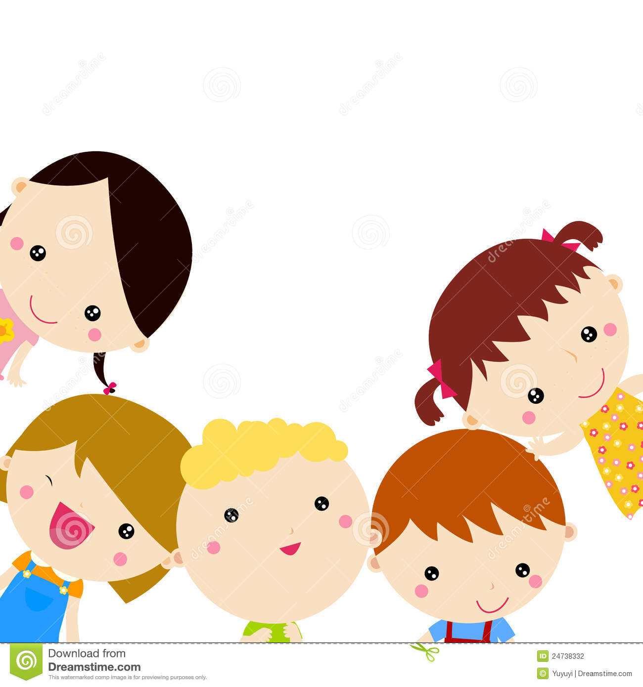 Cute Cartoon Kids Frame Stock Photography - Image: 24738332 How To Draw Animals For Kids