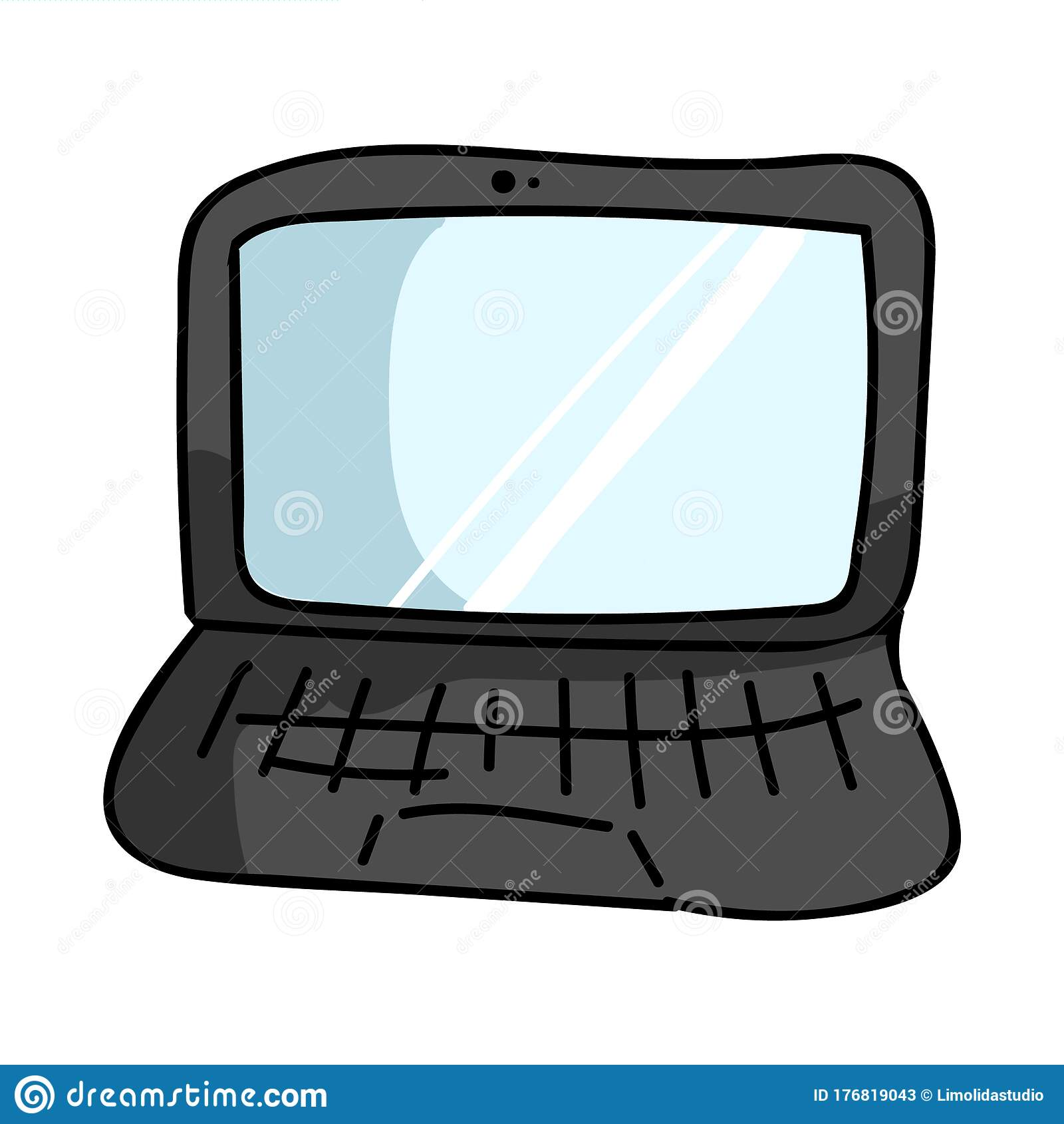 Cute Cartoon Laptop With Keyboard For Communication
