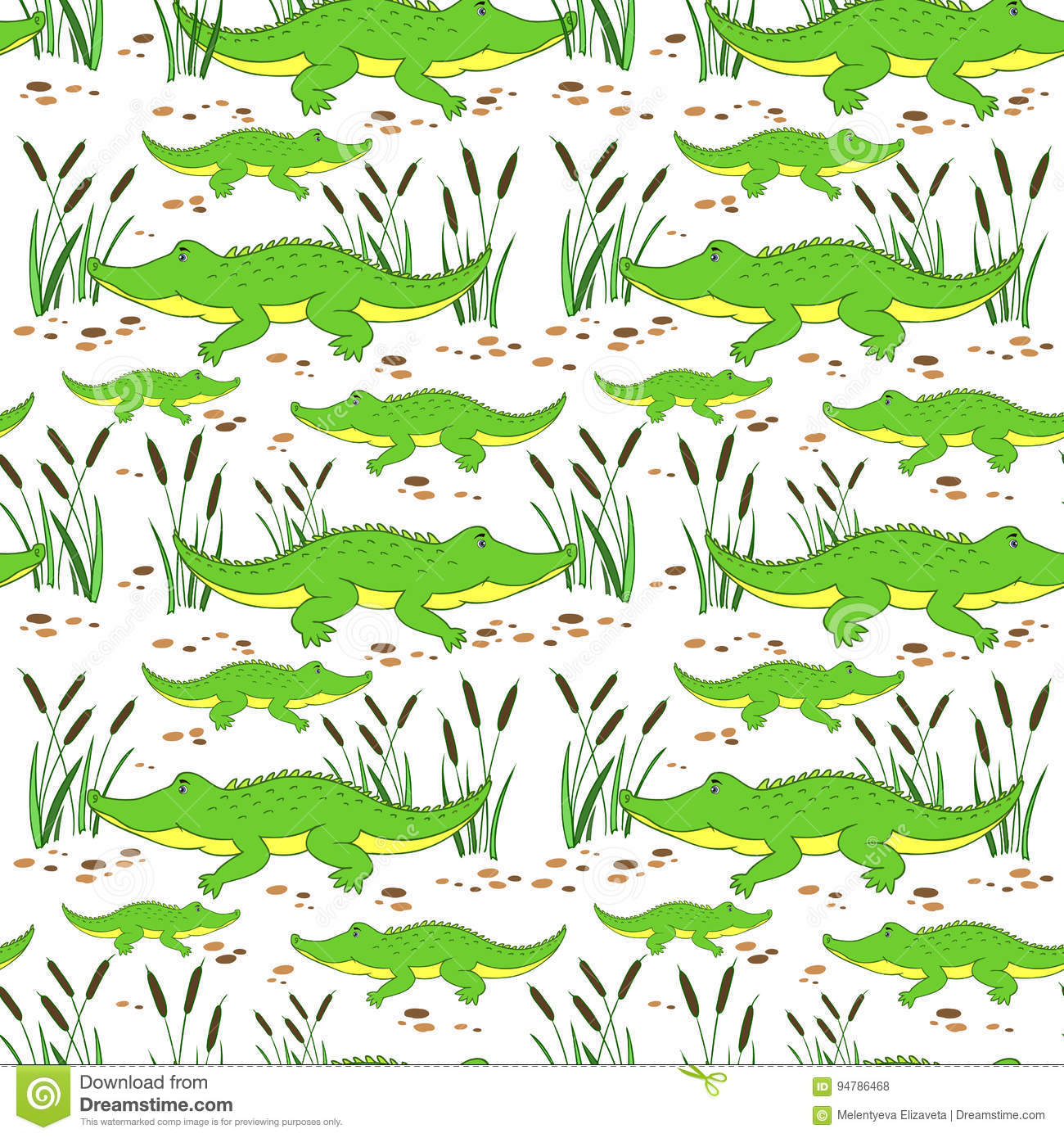 Little Crocodile Swims Bathroom Coloring Pages Stock Illustration ...