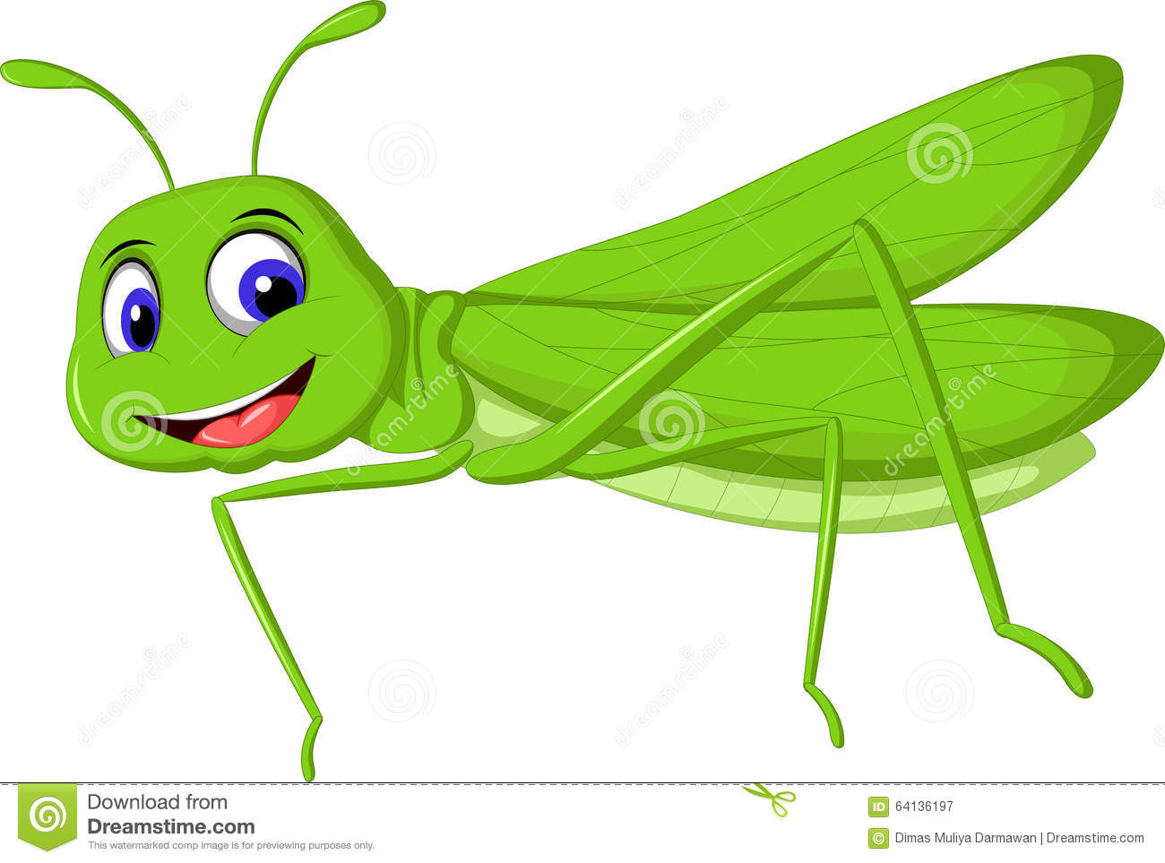 Cute Cartoon Locust For You Design Stock Illustration