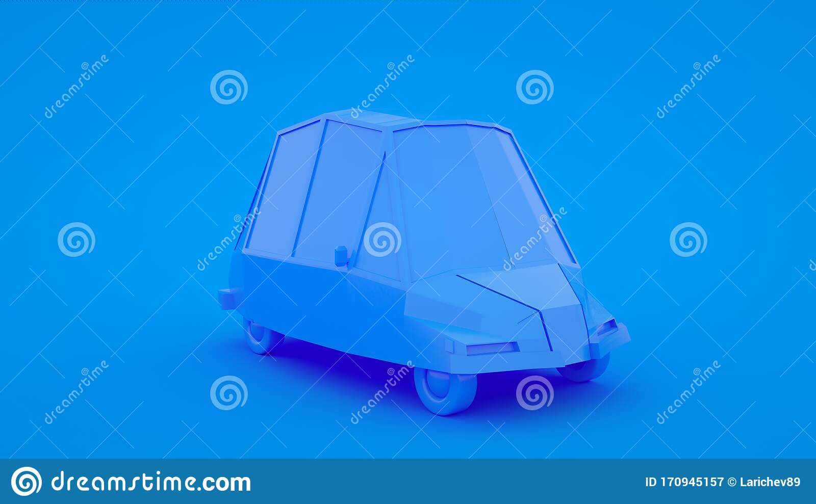 Cute Cartoon Low Poly Car 3d Rendering Geometric Scene On Blue Pastel Background Stock Illustration Illustration Of Pattern Graphic 170945157