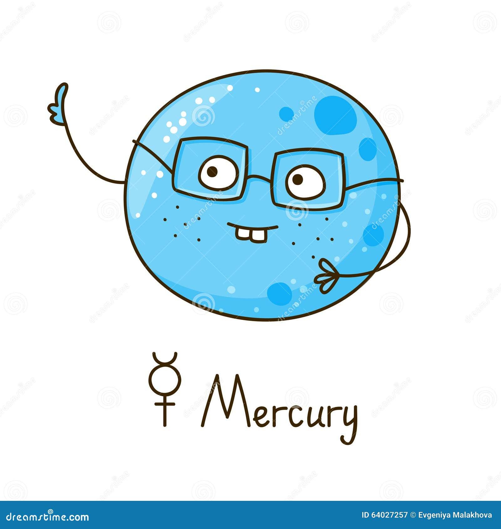 Cute Cartoon Mercury Isolated Stock Vector - Image: 64027257