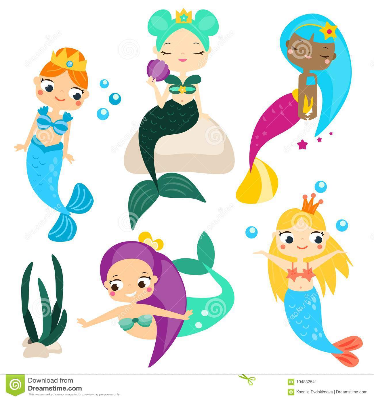 Mermaids Cartoons, Illustrations & Vector Stock Images ...