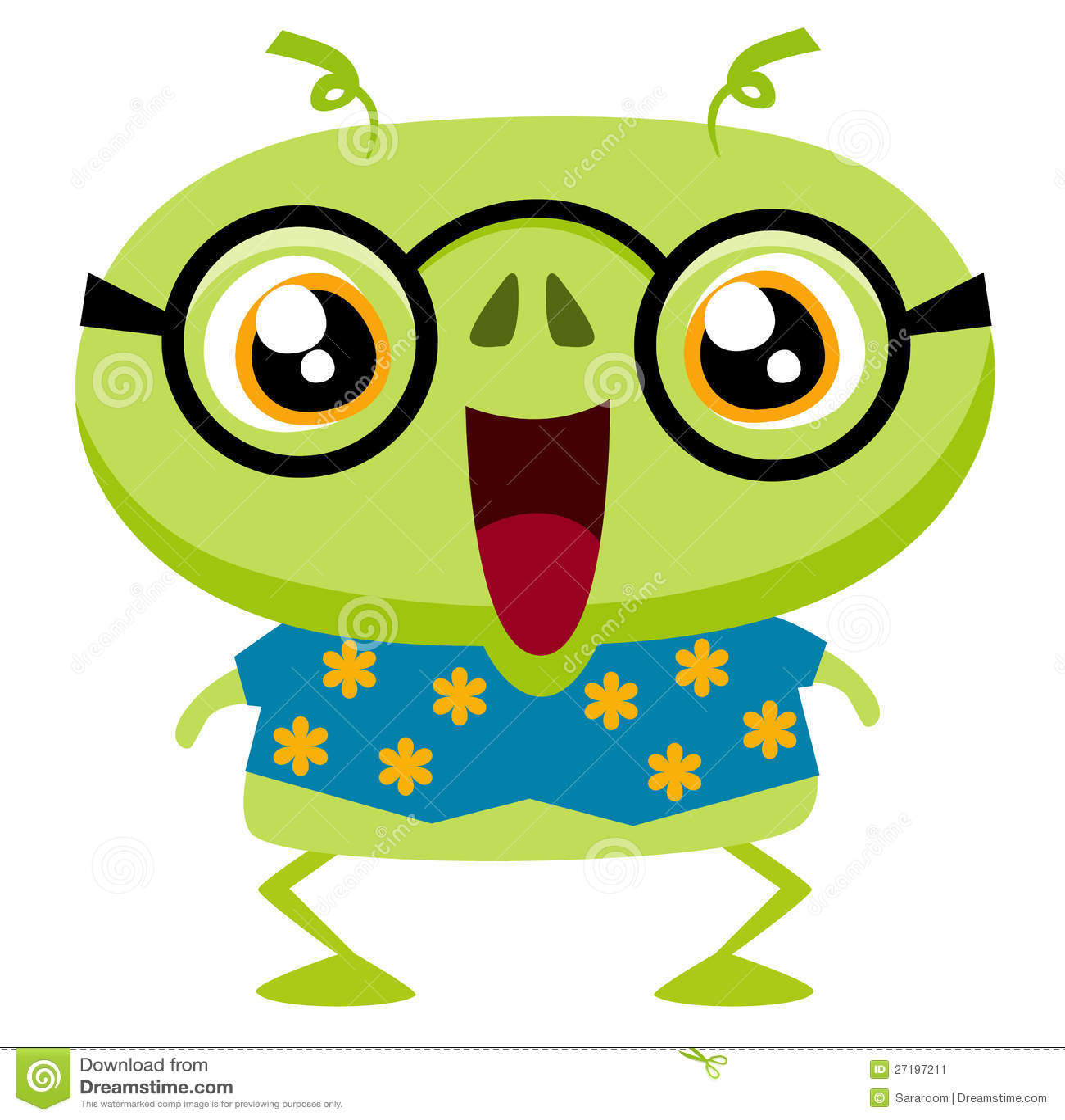 Cute Cartoon Monster Stock Image - Image: 27197211