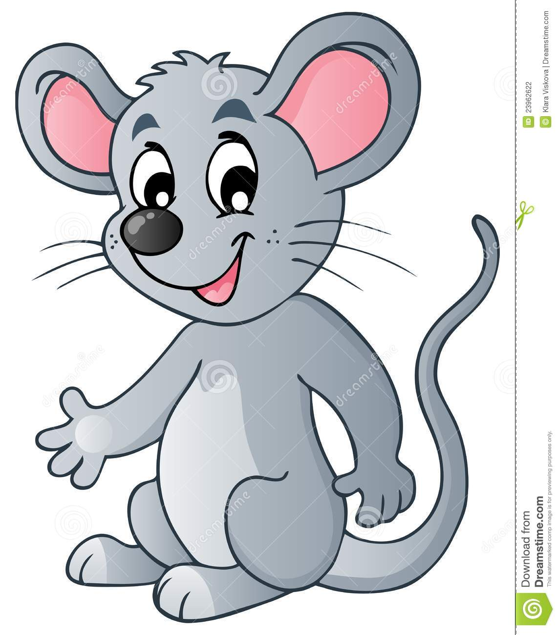 Cute Cartoon Mouse Stock Photography - Image: 23962622