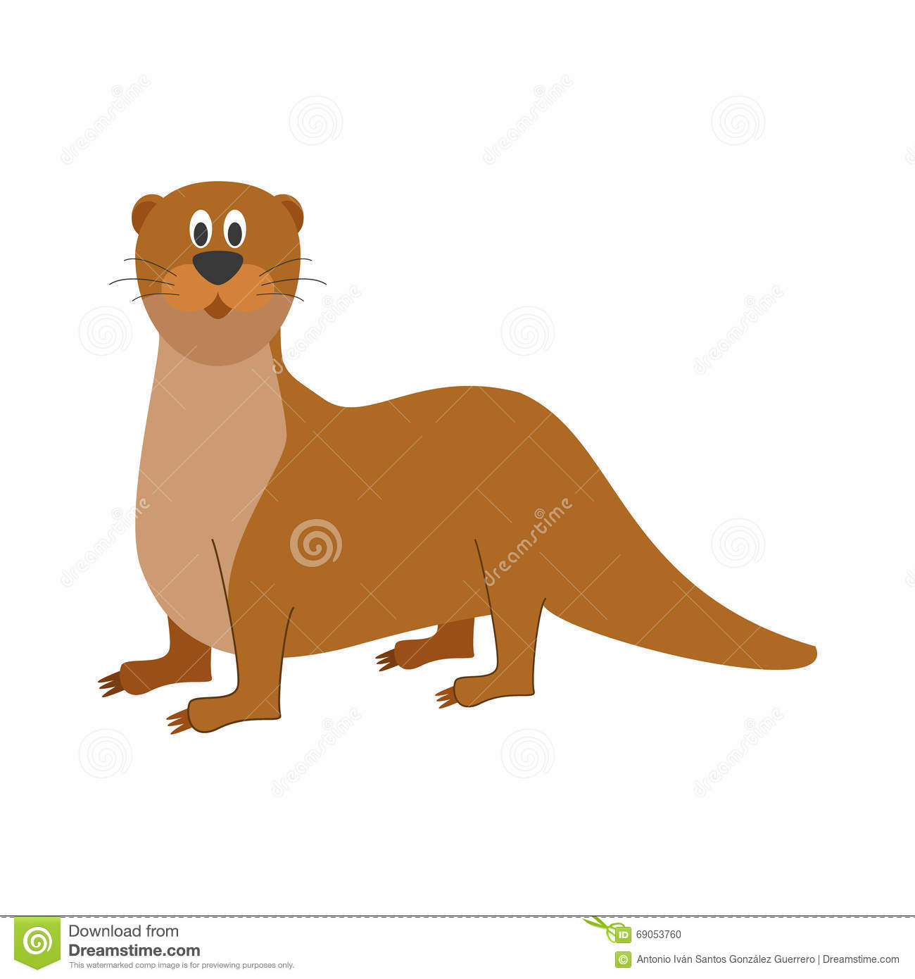 cute cartoon otter vector illustration stock vector