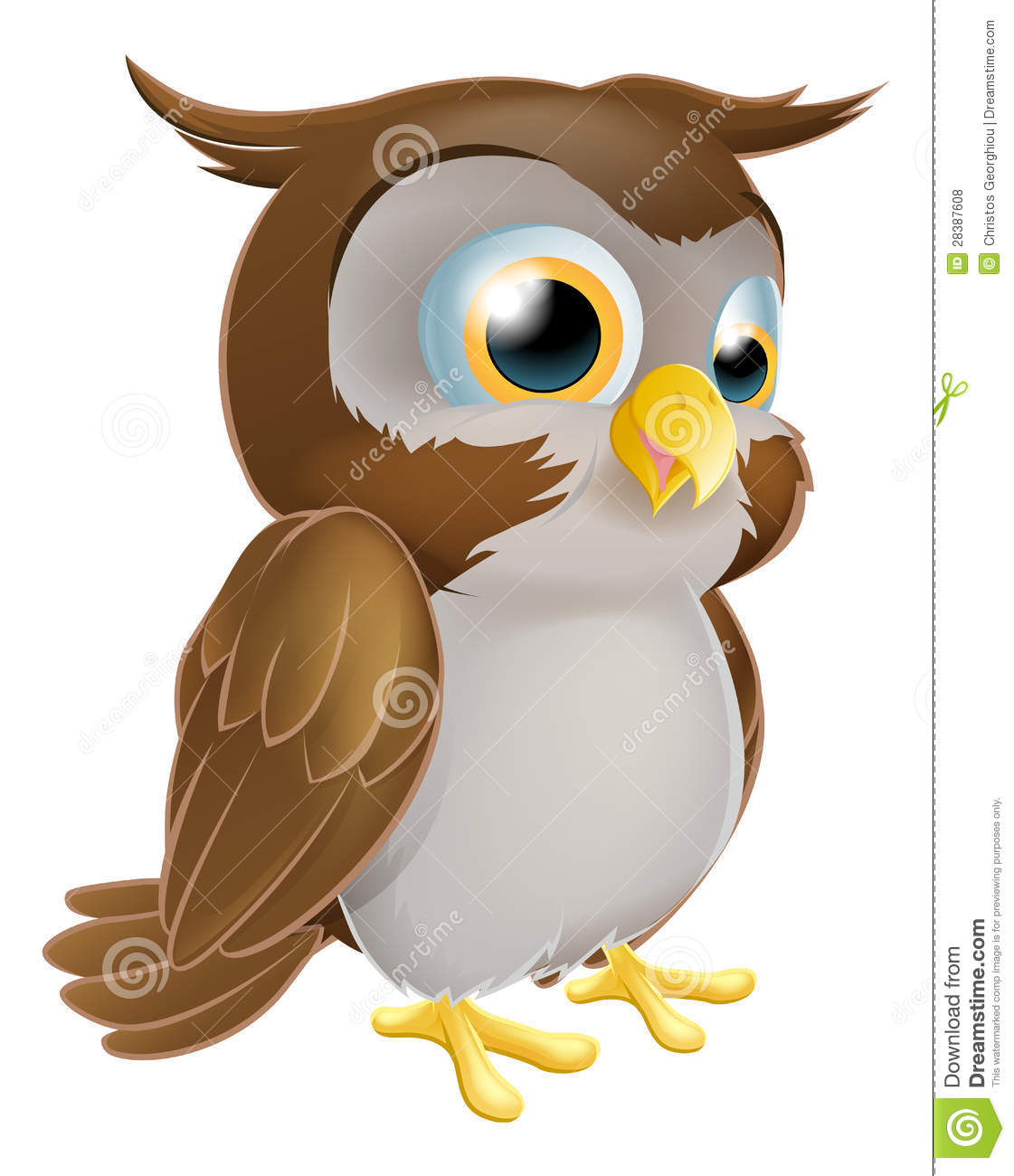 Cute Cartoon owl stock vector. Illustration of sweet ...