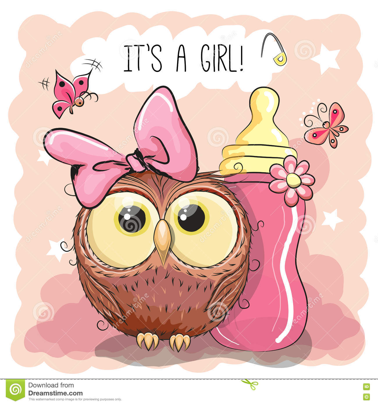 cute cartoon owl girl vector illustration cartoondealer Funny Camera Clip Art Taking Pulse Clip Art