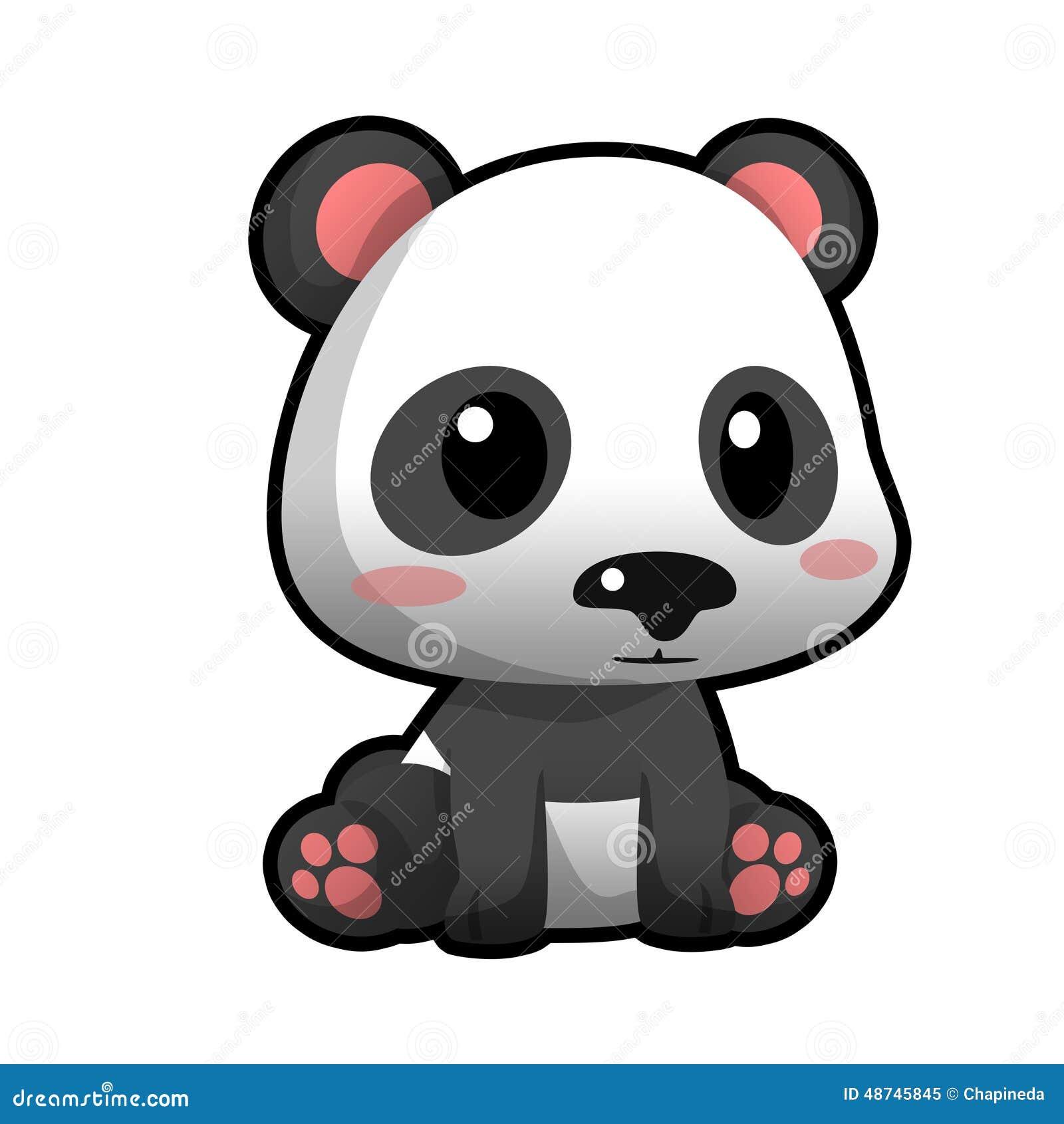 Cute Cartoon Panda Stock Image Illustration Of Cuddly 48745845