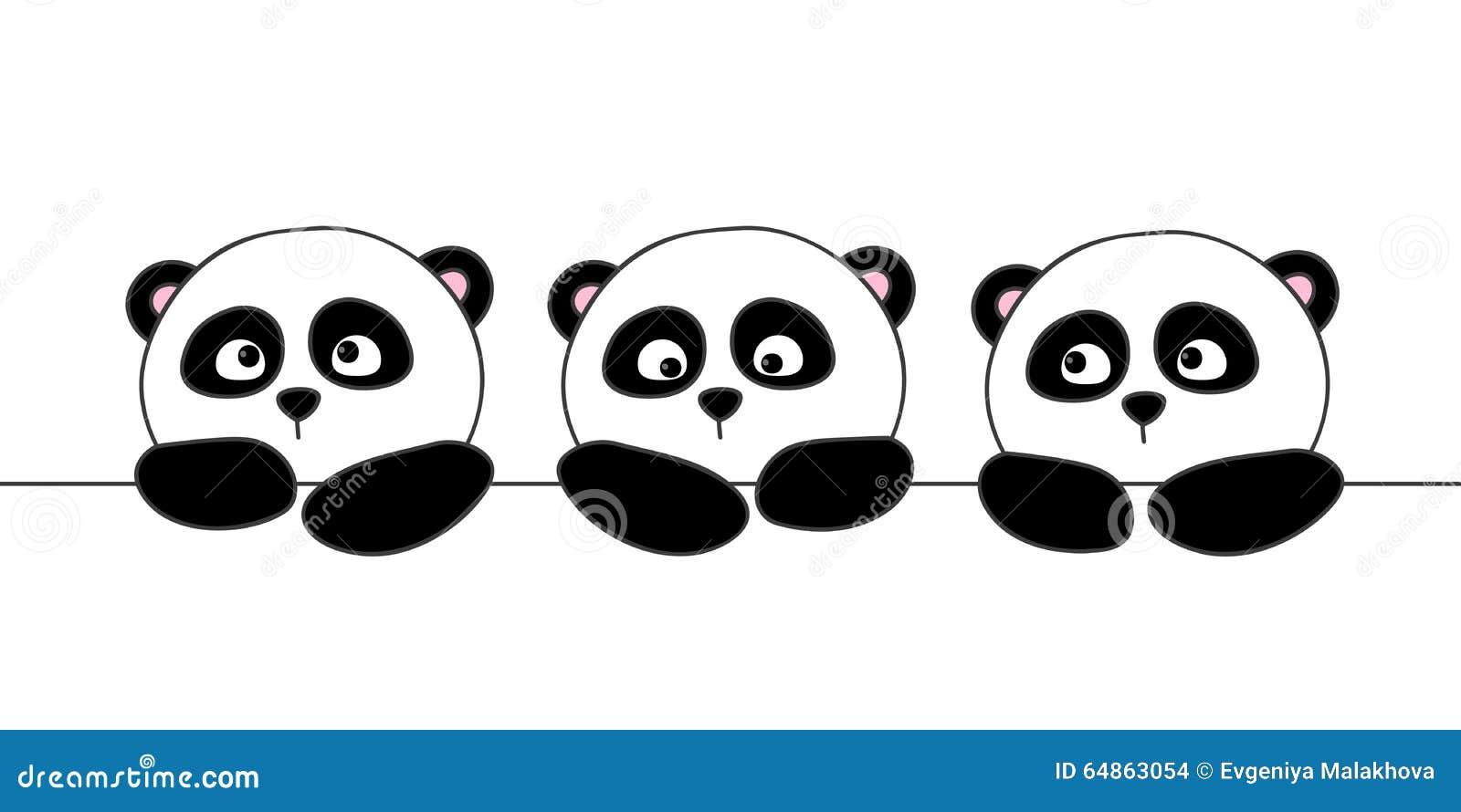 55b65a2d7227b2 Cute cartoon pandas stock vector. Illustration of character - 64863054