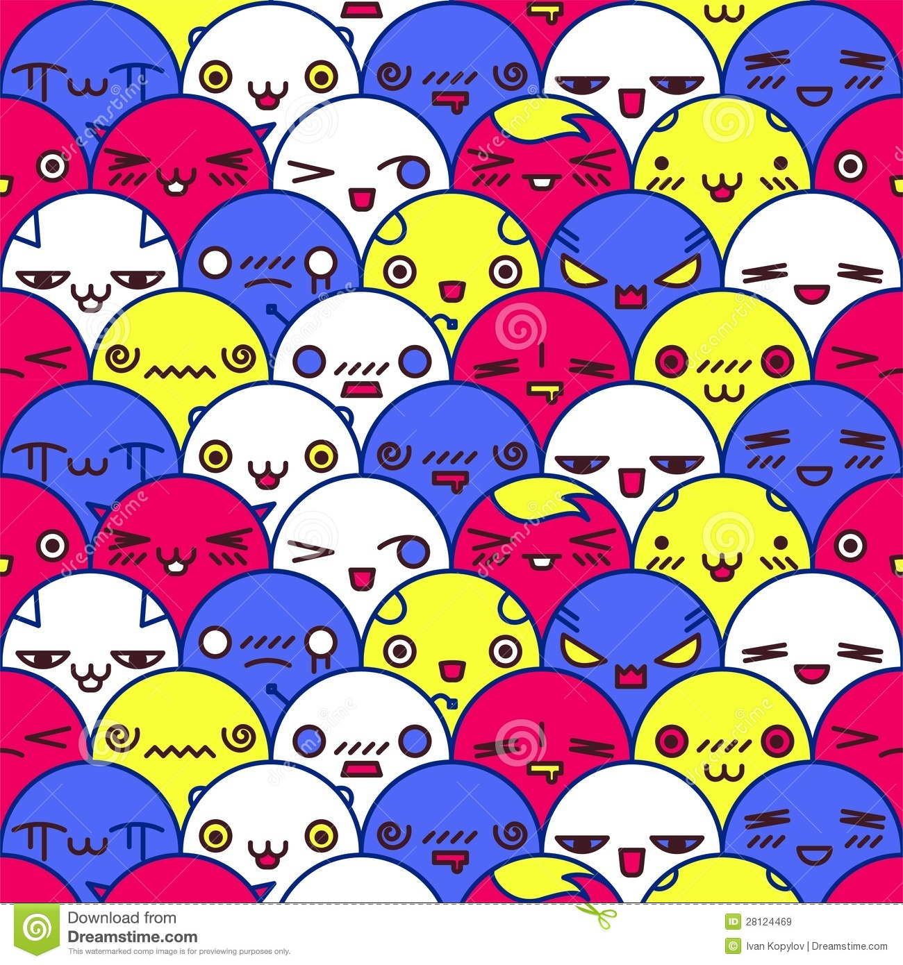 Cute Cartoon Pattern Vector Eps8 Illustration See My Other Works In
