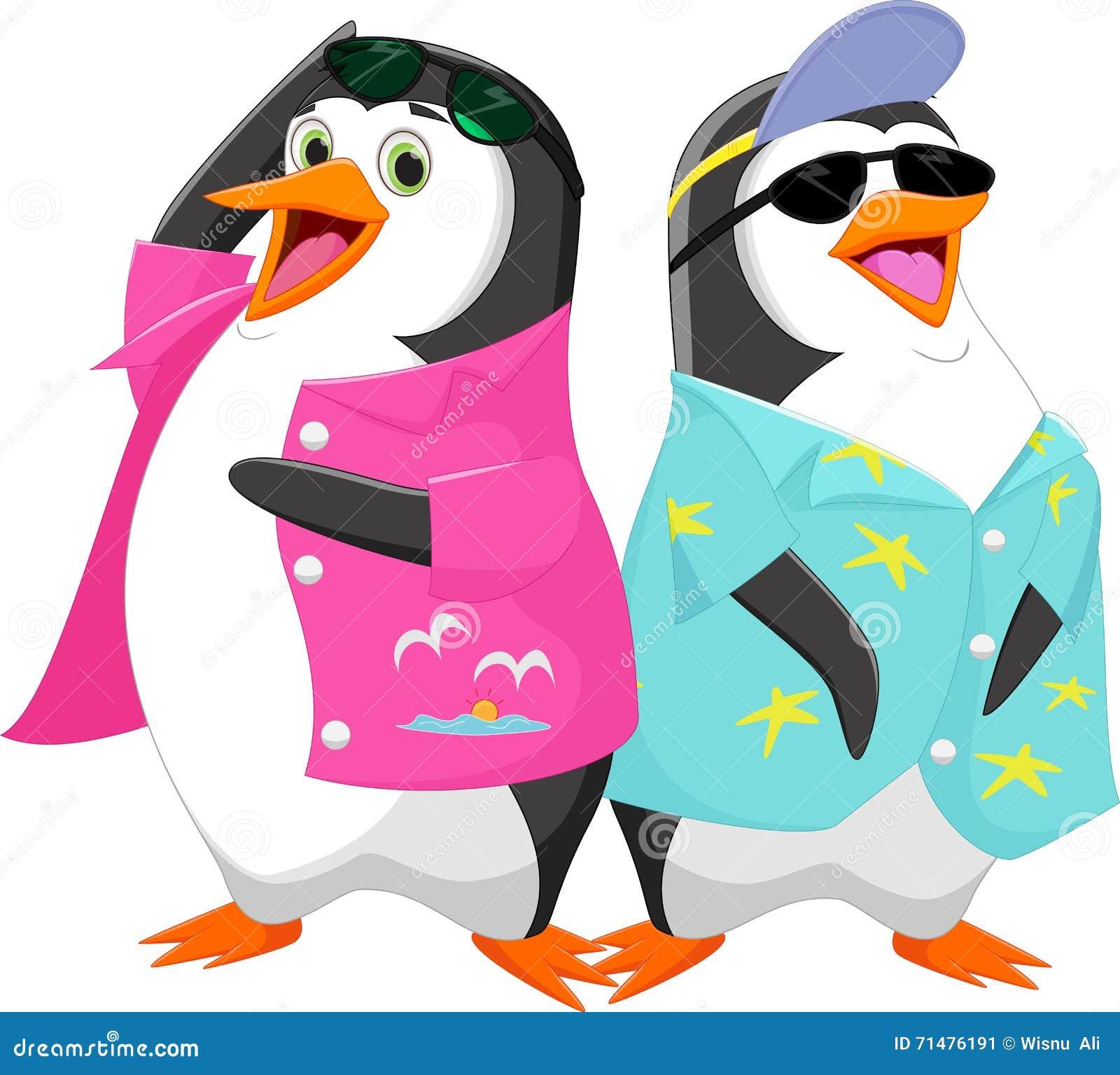 Cute Cartoon Penguin In Summer Vacation Stock Vector Illustration Of Gesturing Holiday 71476191