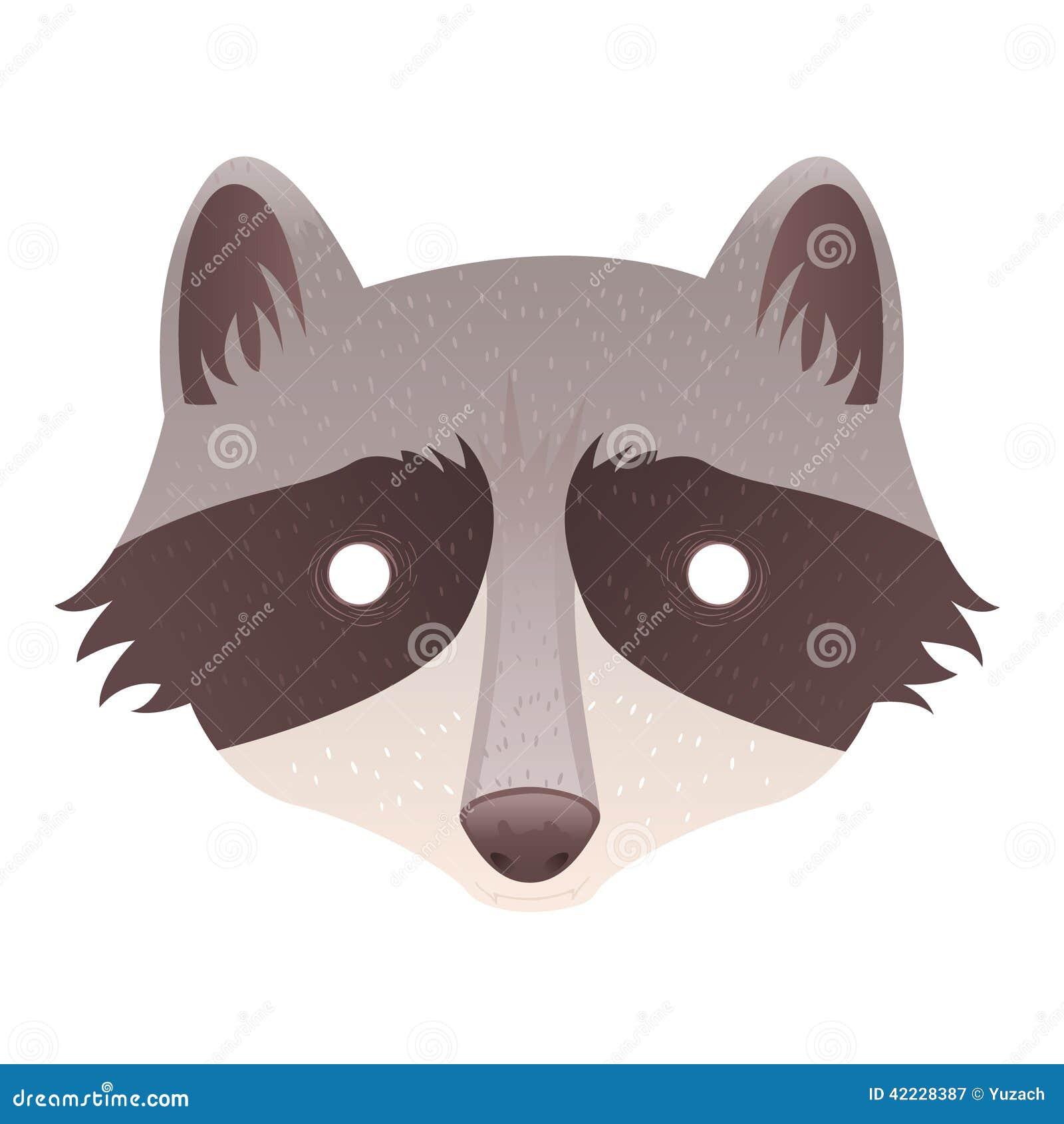 Cute Cartoon Raccoon Isolated Sticker Stock Vector - Image