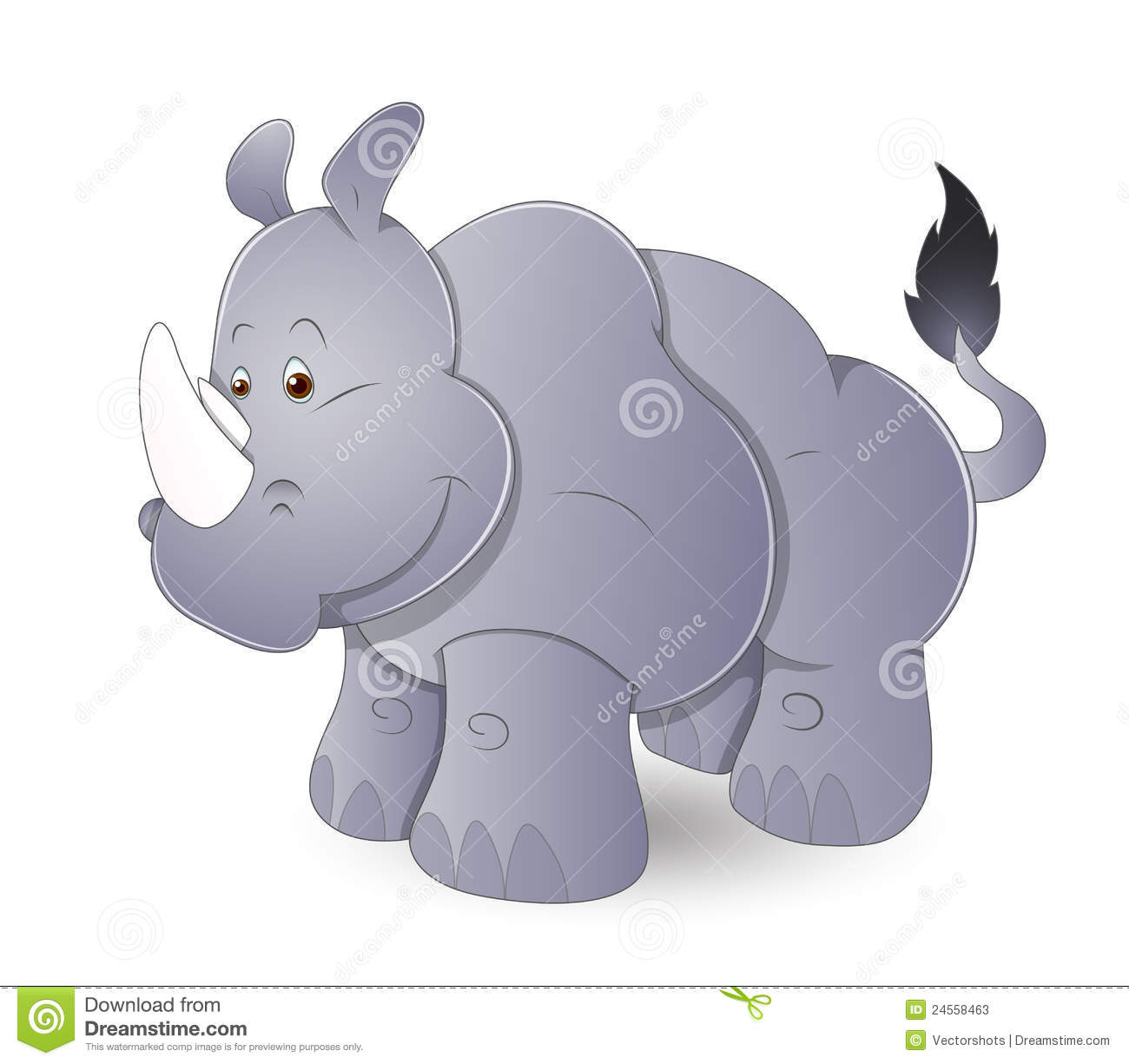 Cute cartoon rhinoceros stock photos image
