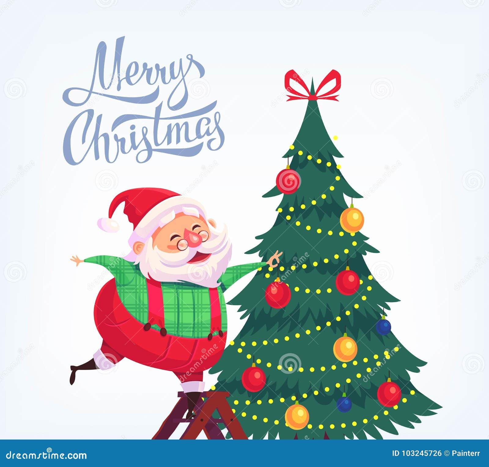 Cute cartoon christmas santa - photo#30