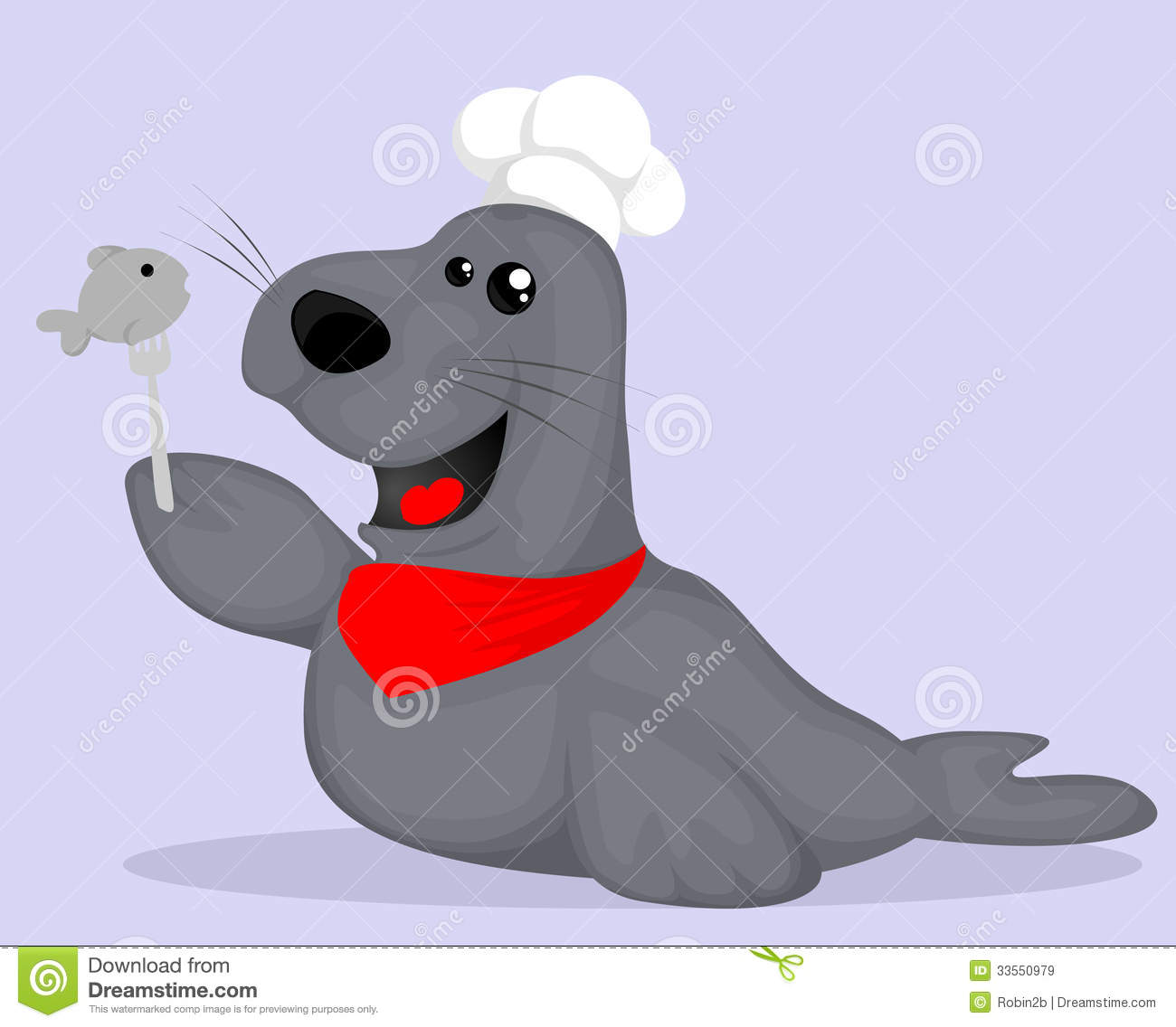 cute cartoon seal chef royalty free stock images