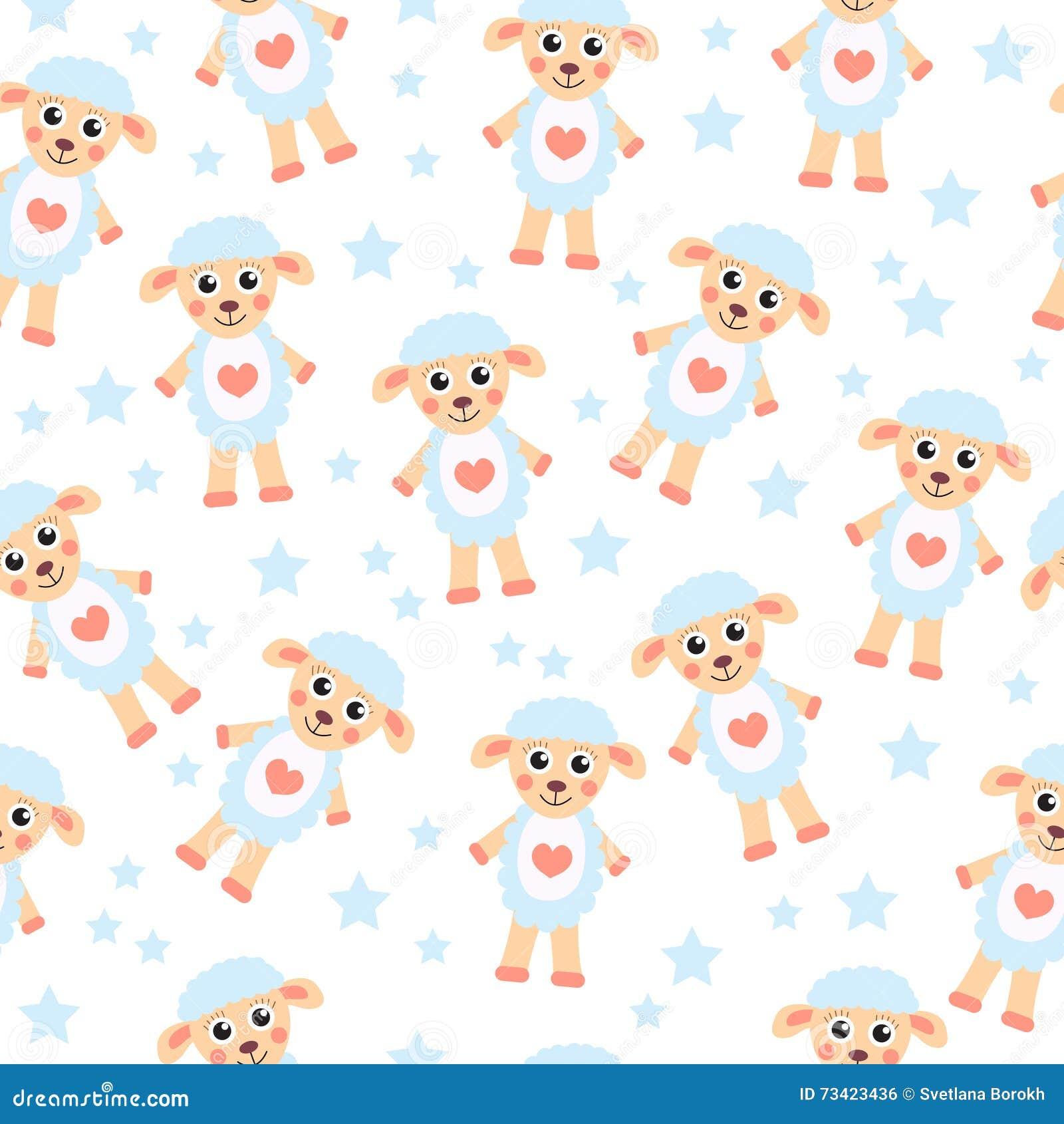 Cute vector baby background cartoon children pattern vector